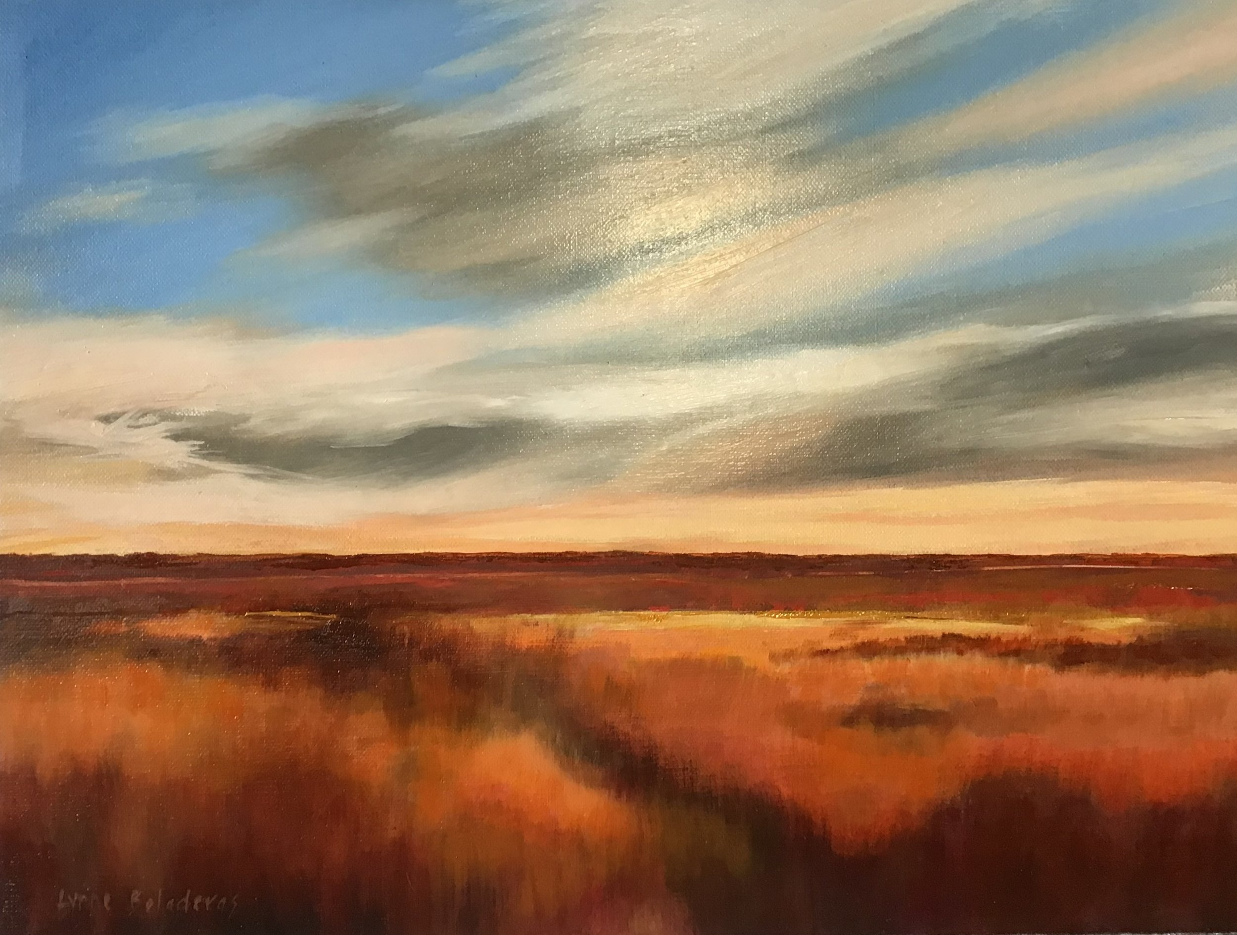 Lynne Boladeras_Time to Camp_Oil on Belgian Linen_30 x 40cm_$450.JPG