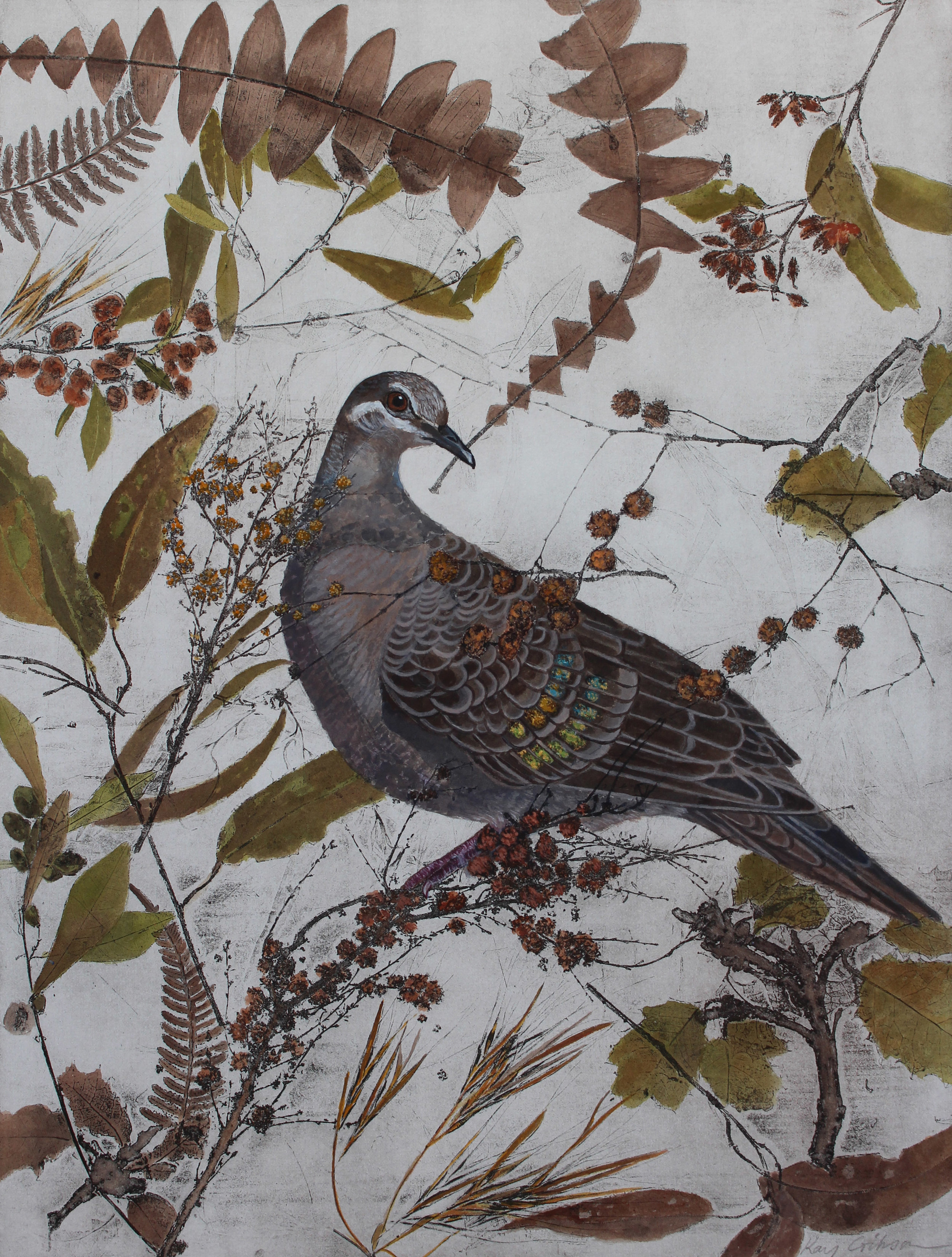 K. Gibson-Beautiful Bronzewing- Gouache and Acrylic - 60cm x 50cm (1).jpg