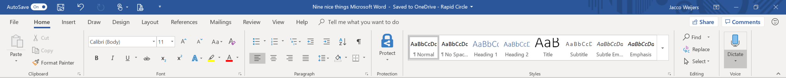 Microsoft Word dictate button.PNG