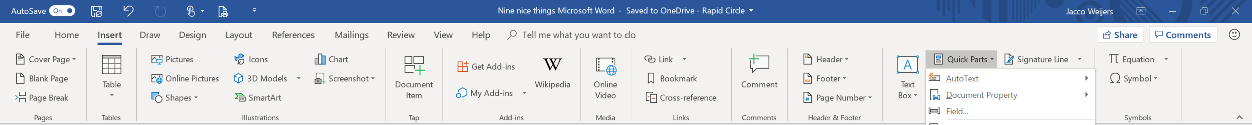 Microsoft Word Quickparts.PNG
