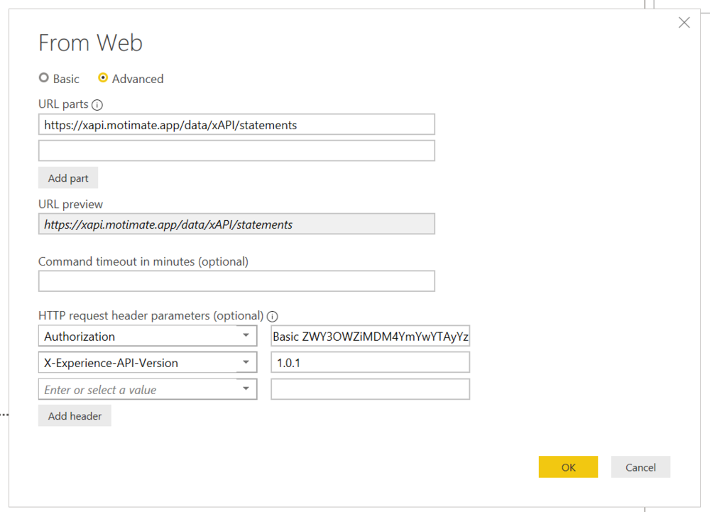 Remember to add the correct authorization and version headers