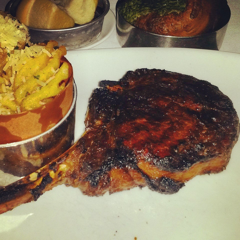 Here's a picture of a steak bigger than your head. Just because. -