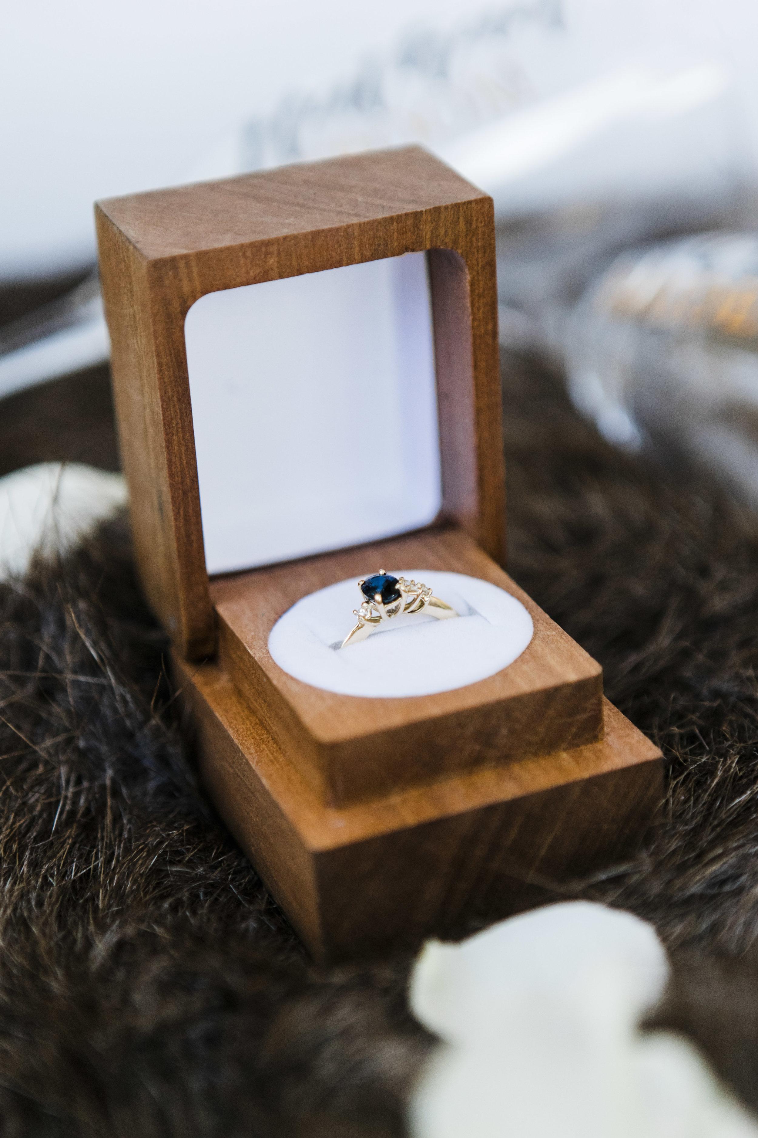 Stunning Australian Black Sapphire and diamond ring by Katie Rose Jewellery.