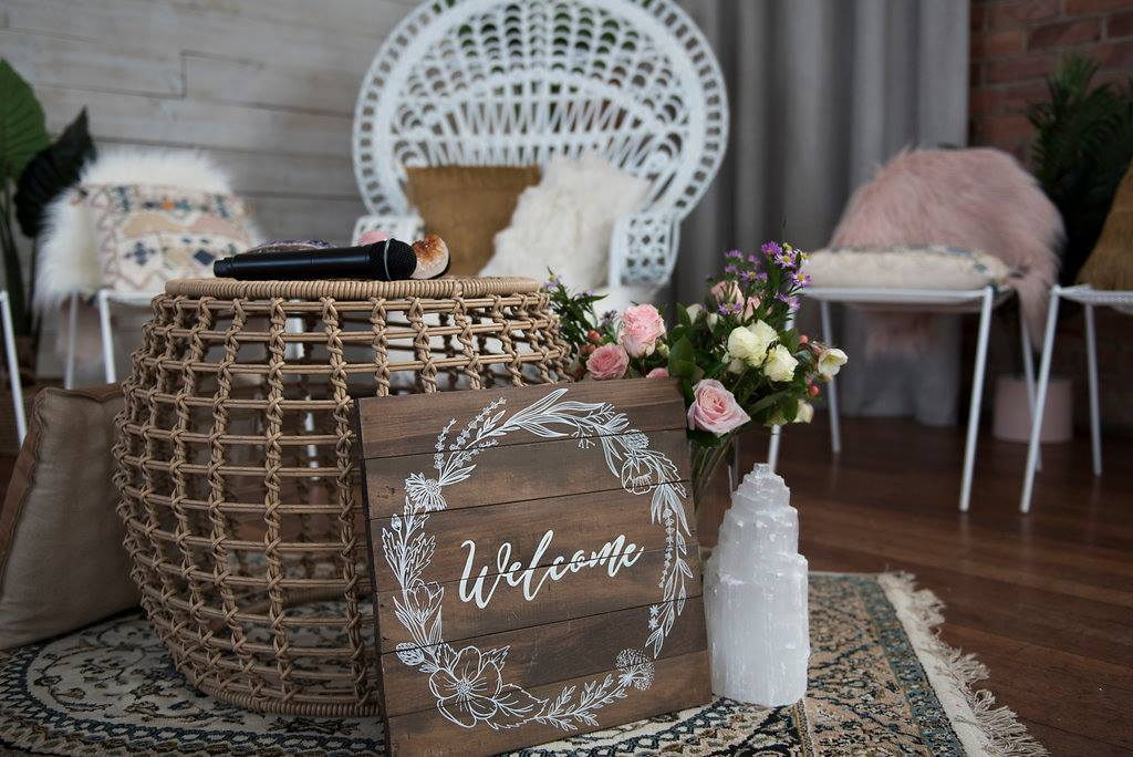 """Spiritual Home - """"Aroha took care of every detail of my event. She thought of everything and I didn't have to worry about a thing. Her styling is absolutely beautiful and she executed my vision perfectly!-Toni Lewis"""