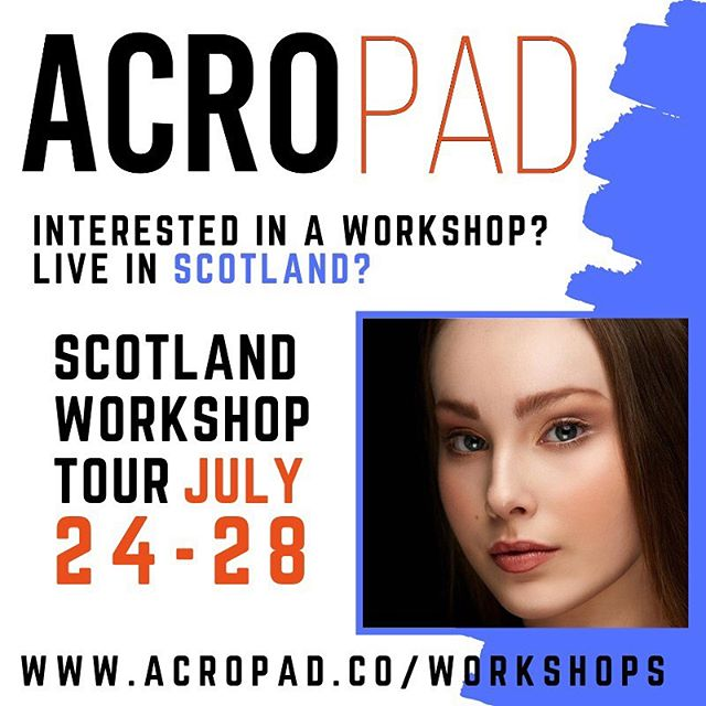 A C R O T O U R | Scotland where you at?  We're coming back for a whole tour July 24-28th 🚨🚨🚨 We are offering 🔸2 hour workshops (or longer!) 🔸2 hour workshop with @acropad AND 2 hour 🔥Dance Masterclass🔥 with Brand Ambassador @dancer_serena! ▪️▪️▪️Message us, comment below, or email us at hello@acropad.co! Tell your friends & tag your school! 🔸🔸🔸 #acropad #weareacropad #acropadworld #reachnewheights