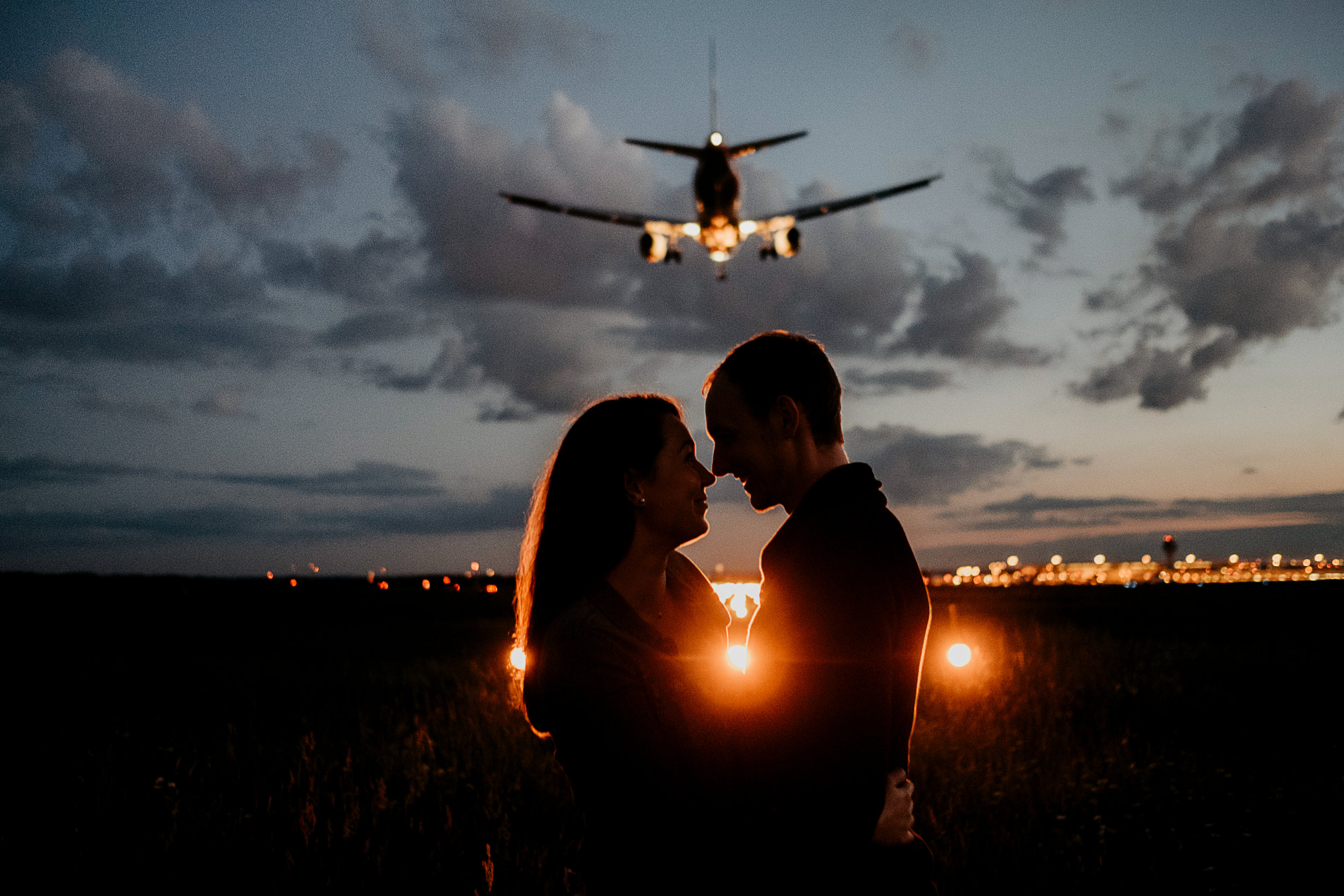 Kein Photoshop, das Flugzeug flog direkt über unsere Köpfe hinweg.