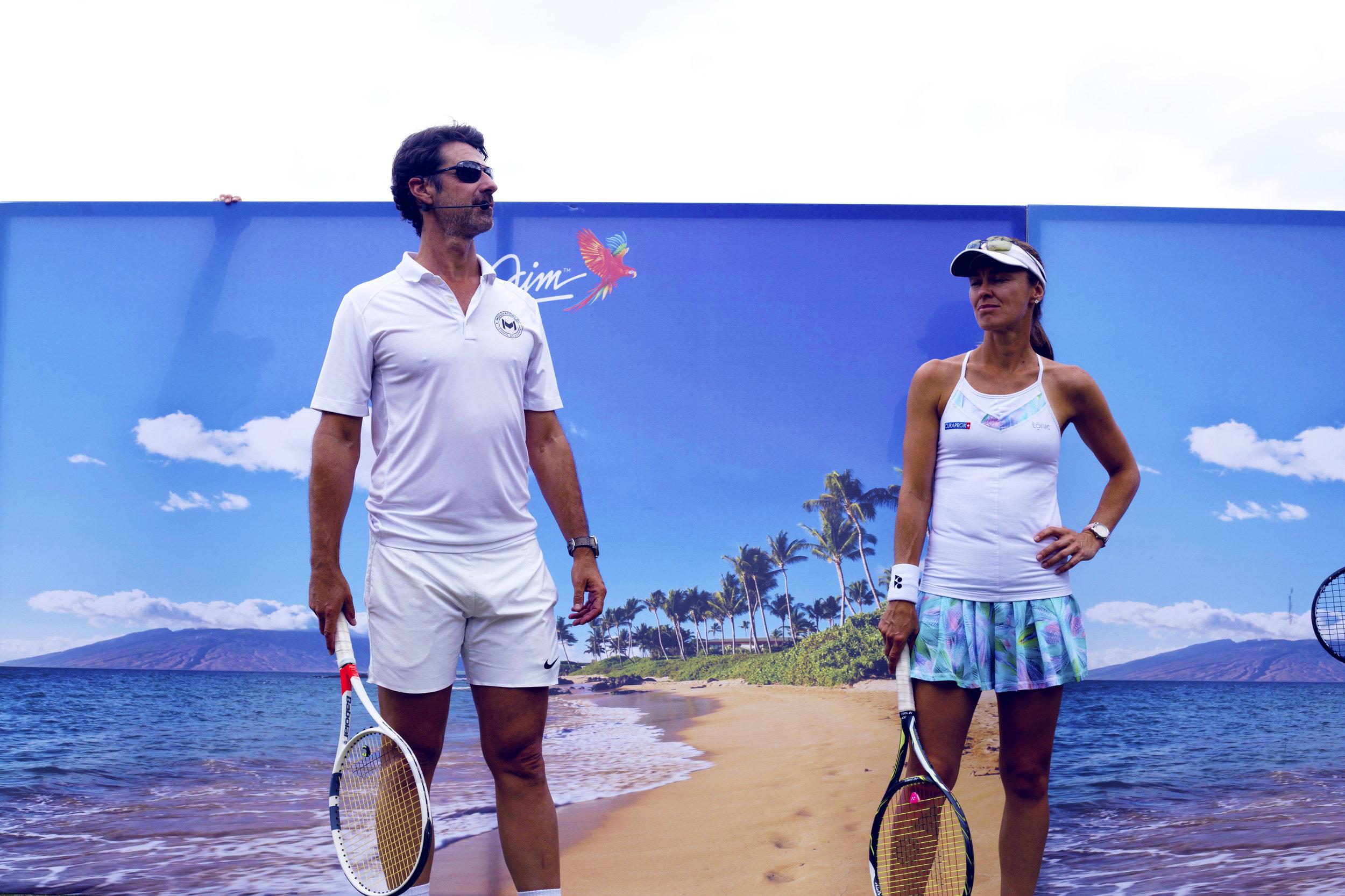 Martina Hingis &Patrick Mouratoglou @ the Wimbeldon Clinic