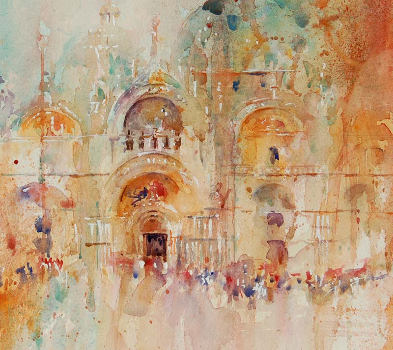 Beauty of Venice - Private Collection Jean Haines watercolour 74 X 94 Cms