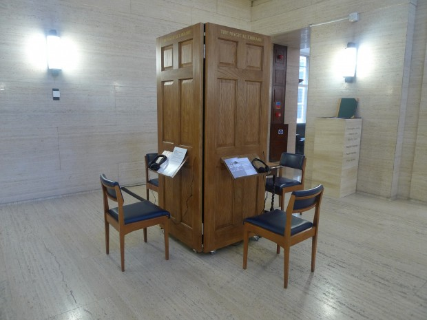 The Magical Library Installation and sound booth made during residency/research fellowship at University of London 2011 Sarah Sparkes