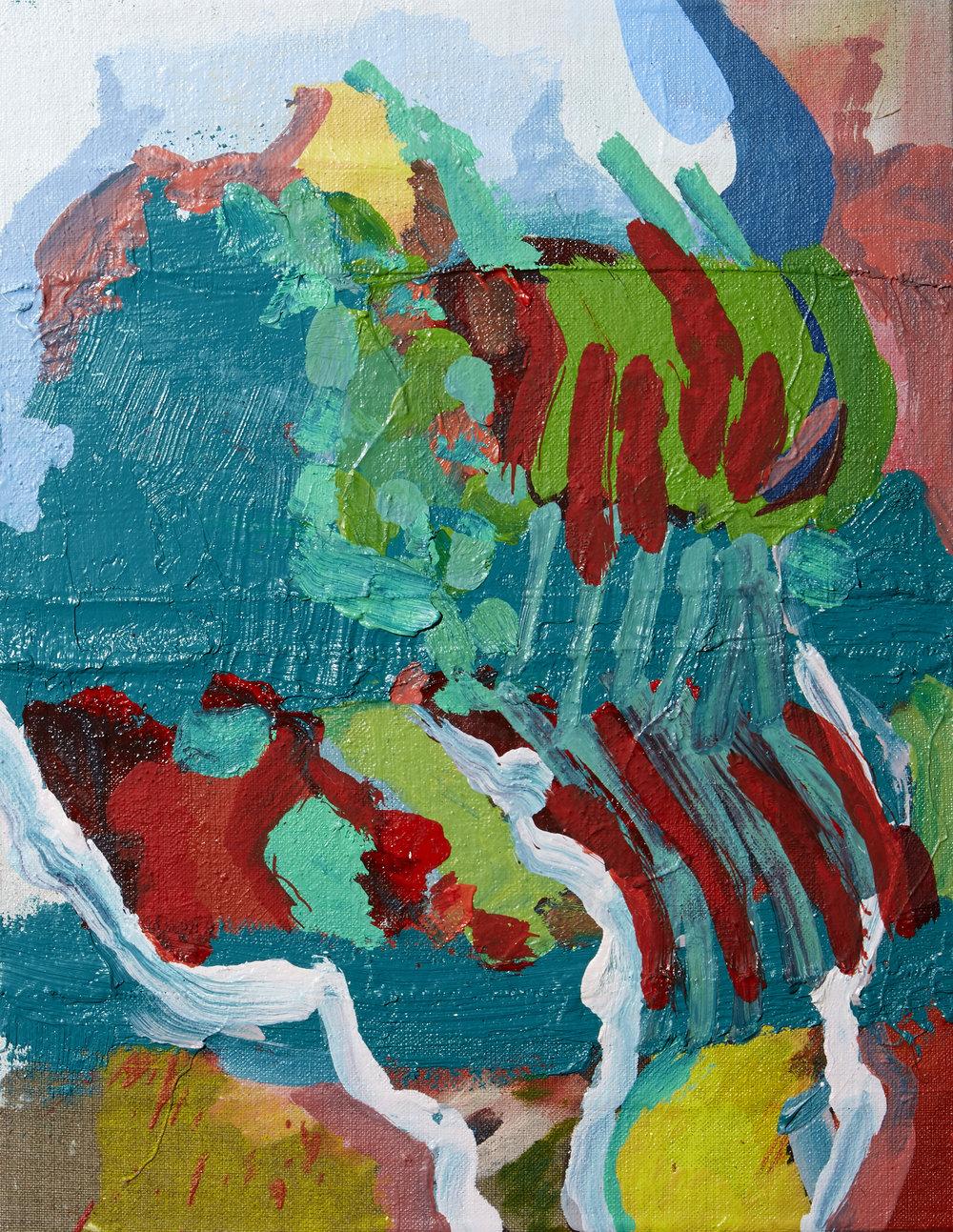 'Rag' Karl Bielik Oil on linen on panel 45x35 cms 2017