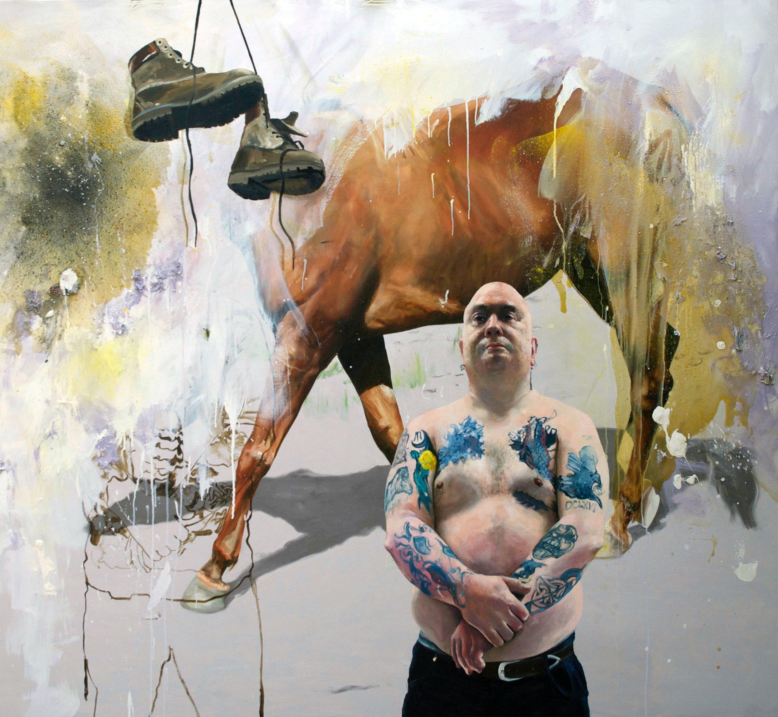 Chris Stevens, I Could Have Been Tarzan, oil on canvas, 150 x 160 x 5cms,  http://www.chrisstevens.co