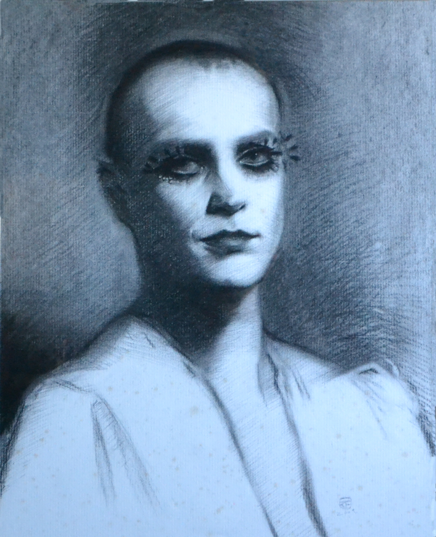 Kit French, Miss Lucy, Charcoal on Paper, 57 cm x 46 cm