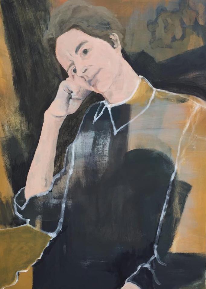 Maureen Nathan, Her Shirt, acrylic on birch ply panel, 90cmX65cmx5cm,  http://maureennathan.com