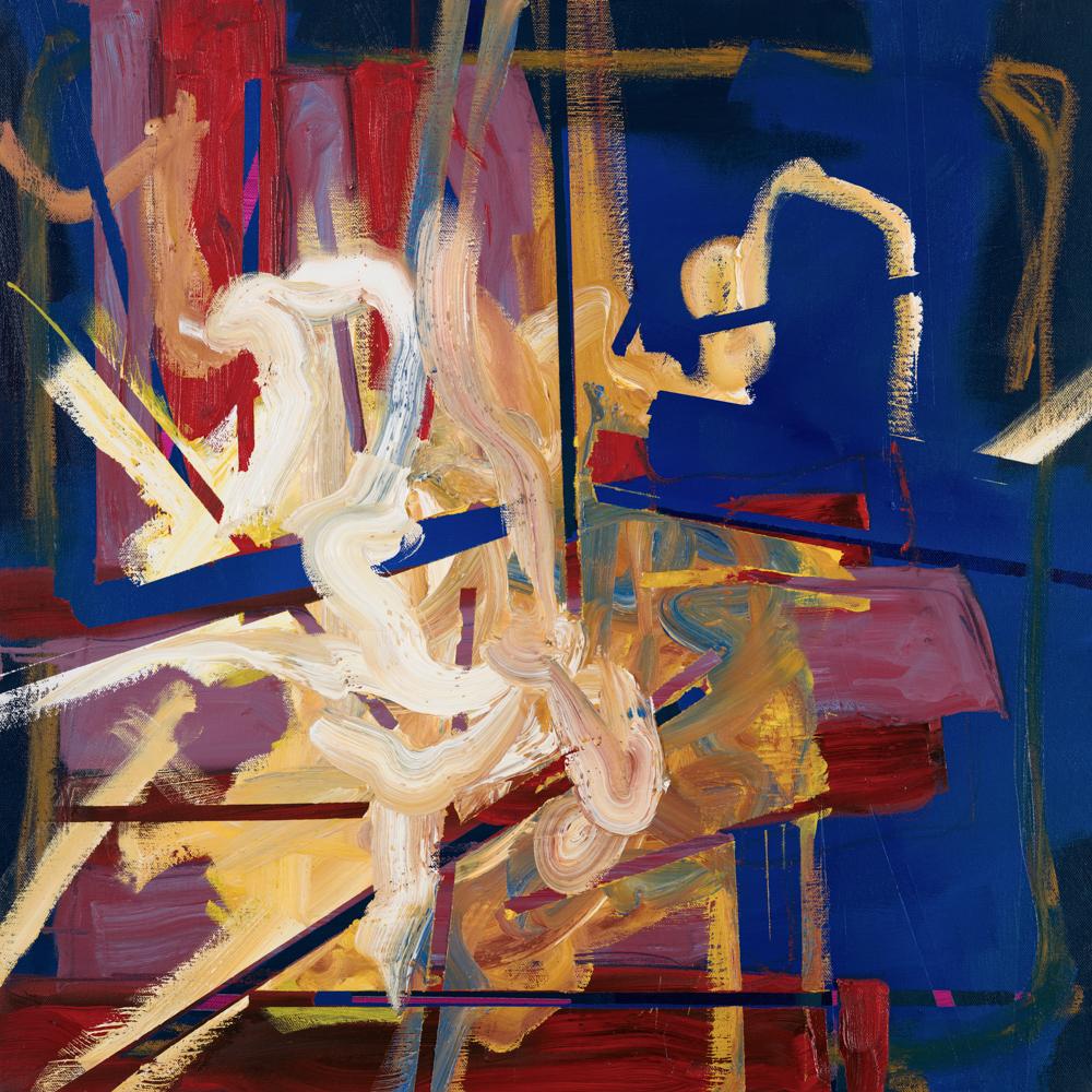 Aisling Drennan, Tangling, oil paint and charcoal on canvas, 60x60x4cm,  http://www.AislingDrennan.com