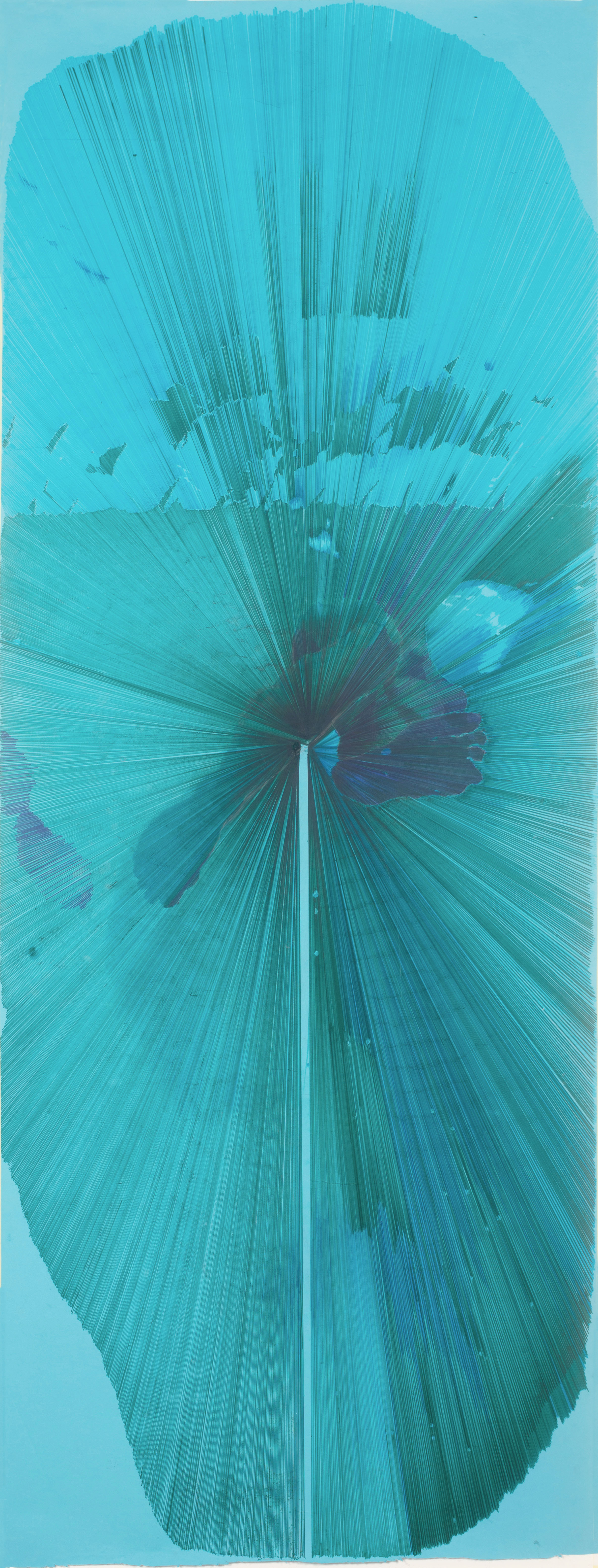Lam Ly, The Diver, Ink on Paper, 207cm x 84cm,  http://www.random-monkey.com