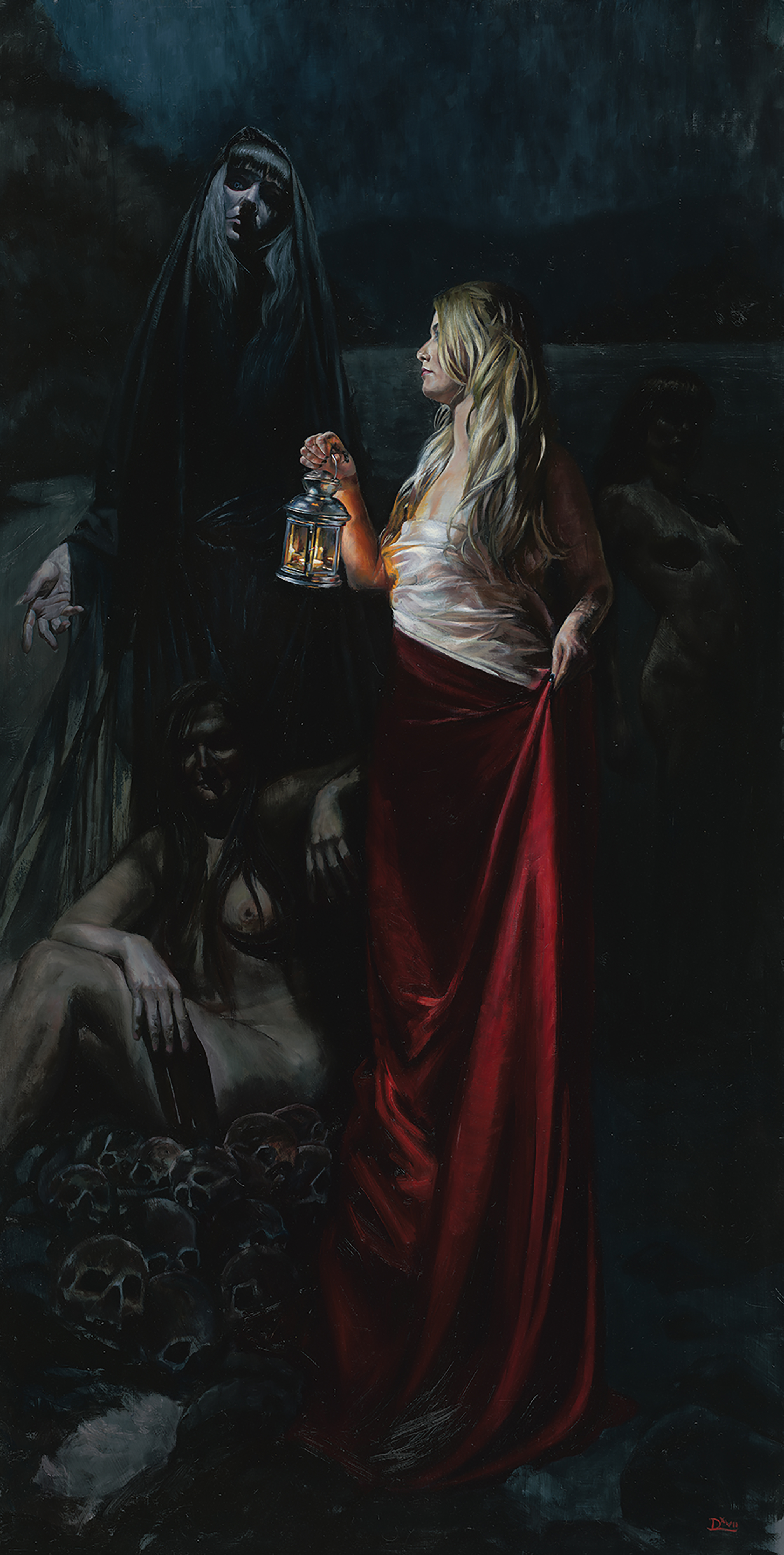 Daire Lynch, Angels of Darkness, Demons of Light, Oil on Aluminium Panel, 122 x 61 cm,  http://www.dairelynch.com