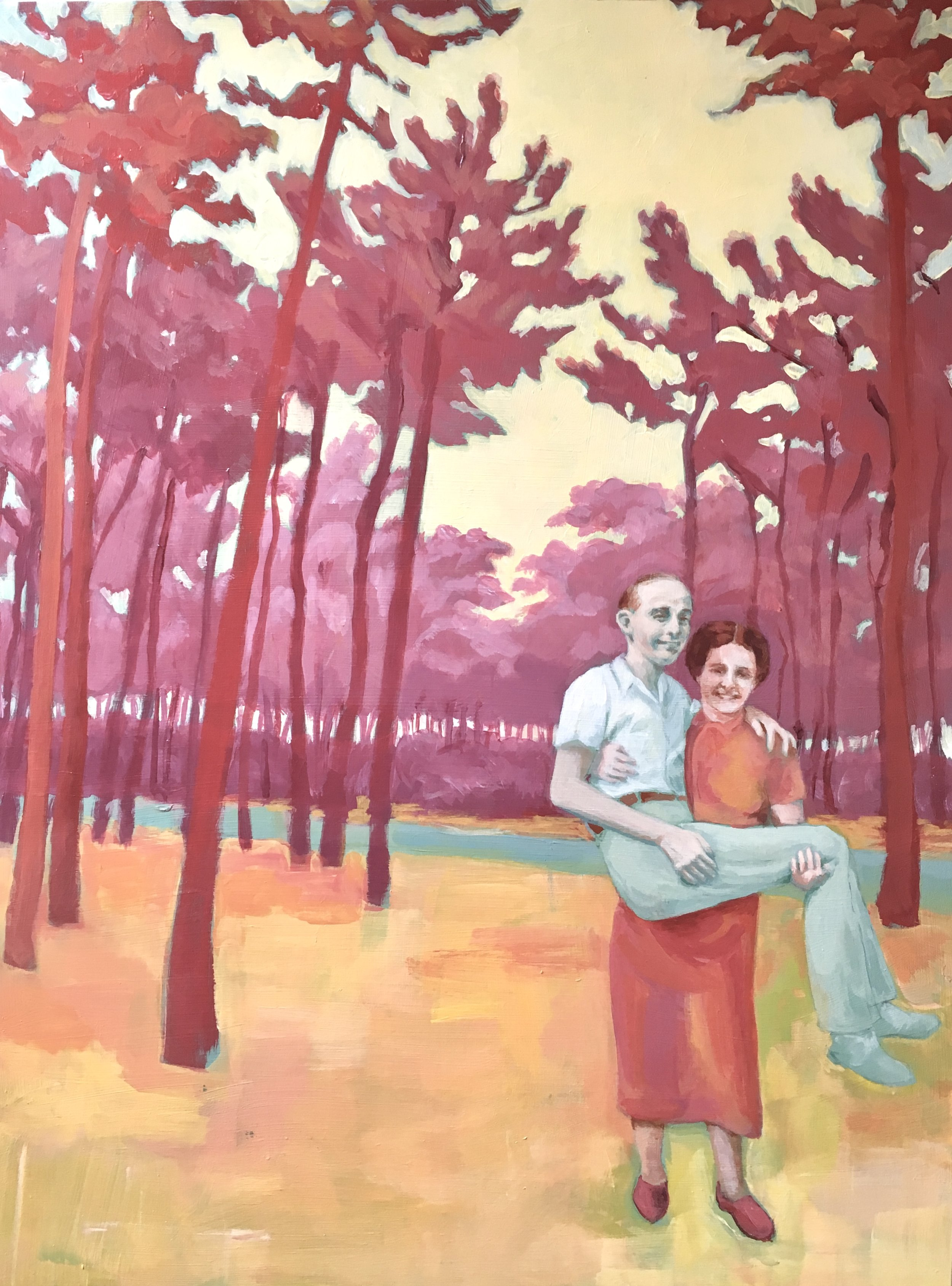 Lucy Gresley, Lucy Gresley, Patient, Acrylic on wooden panel, 40 x 30 x 2 cm,  https://www.lucygresley.com