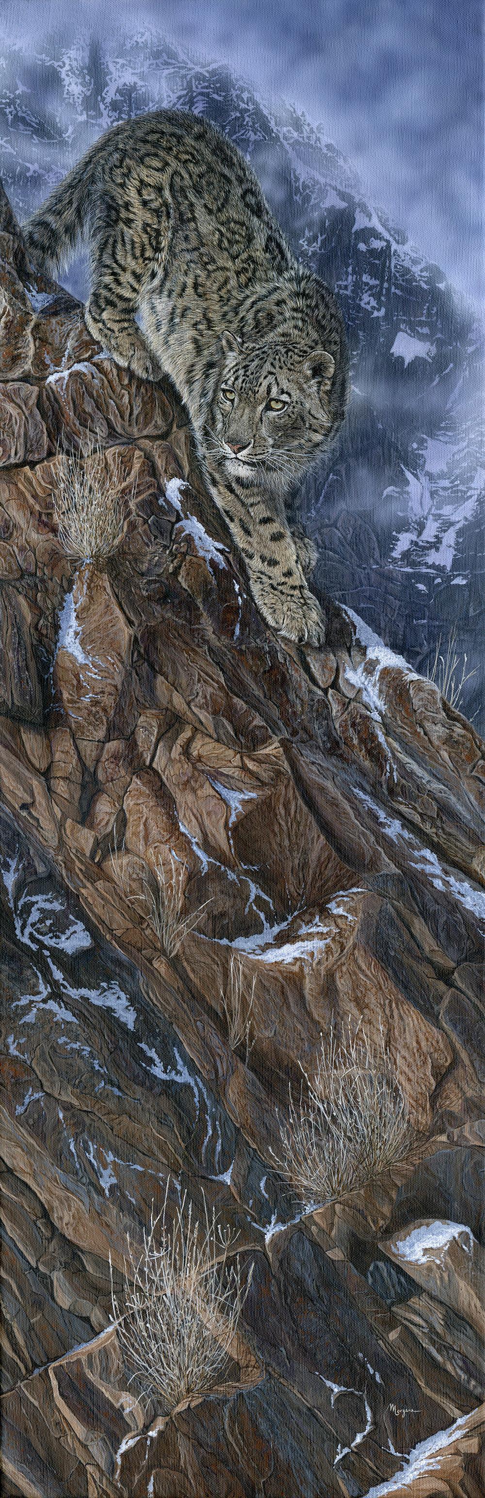 Morgane Antoine, The Mountaineer, Acrylic on canvas, 90 cm x 30 cm x 2 cm,  http://www.morganeantoine.com