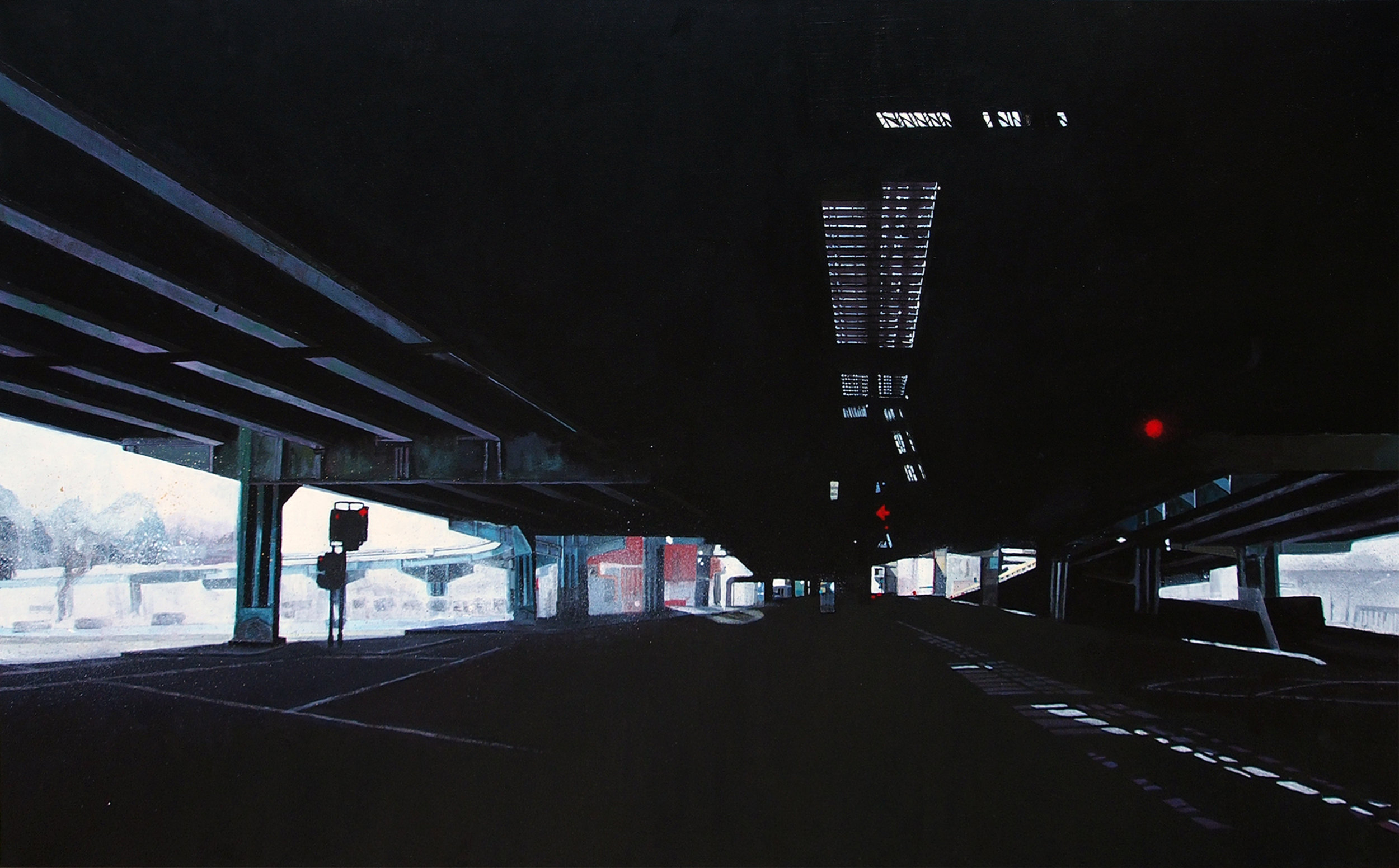 Victoria Dale, Overpass, Acrylic on canvas, 76 cm x 122 cm x 2 cm,  http://www.vickydale.com/