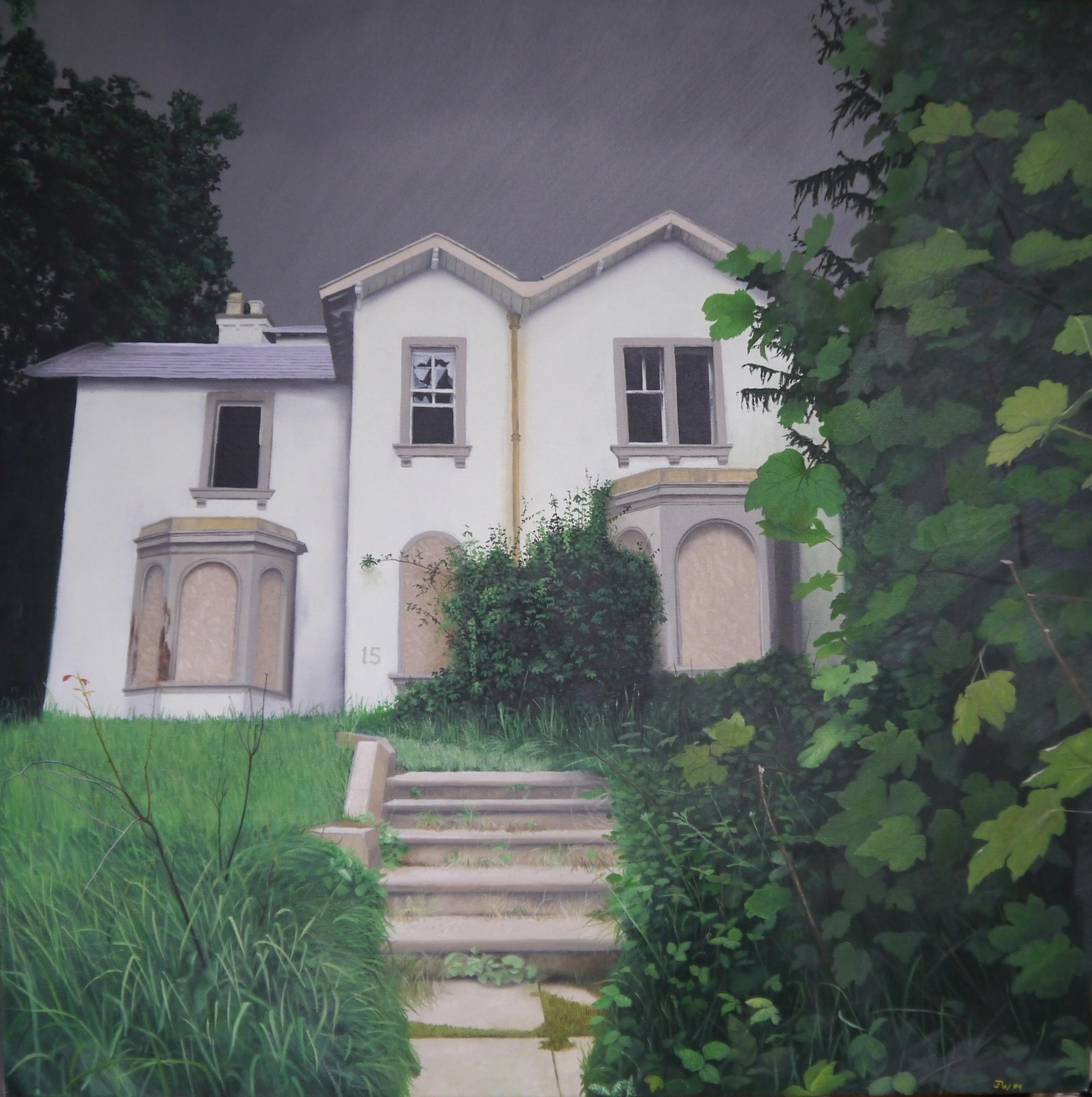 John Whitehill, Fifteen, Oils on canvas, 90 x 90 x 4,  http://johnwhitehill.co.uk