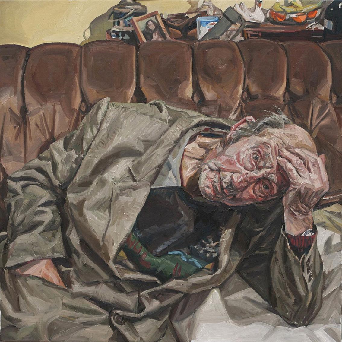 Richard Allen, DCTH, oil on linen, 65 x 65 x 5,  http://www.richard-allen.com