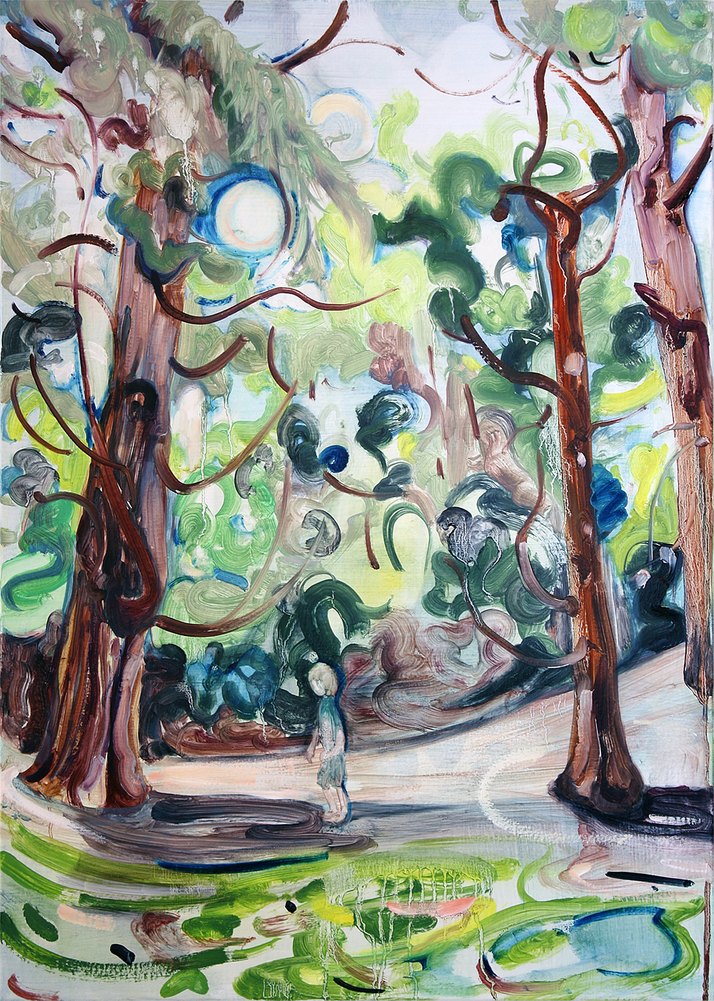Caroline Thomson, I'll Drive a Tank Through Your Heart II, Oil on Canvas, 71 x 51 X 4 cm,  http://www.carolinethomson.com