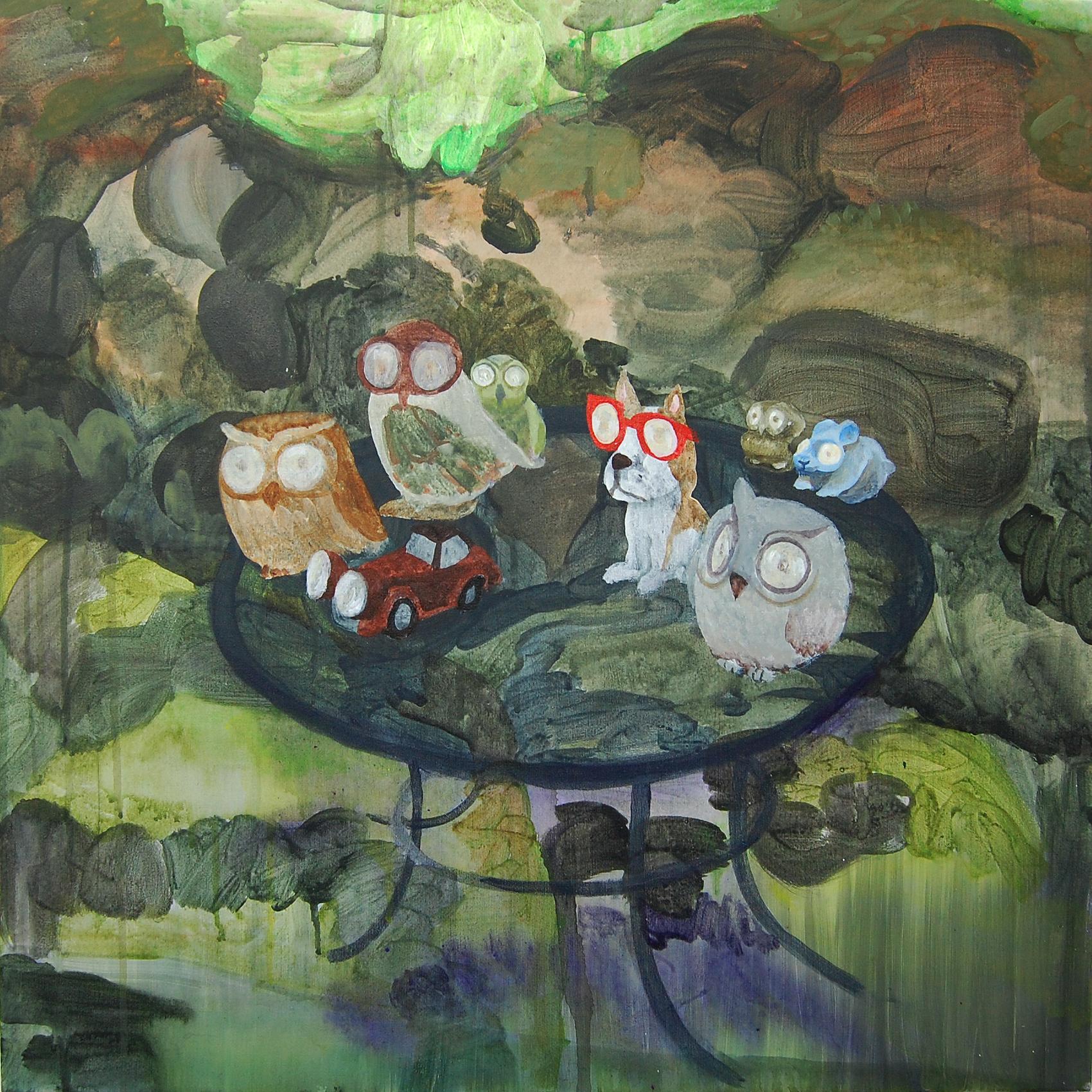 Christian Kuras, Solar Ornaments, Acrylic and oil on canvas, 60 x 60 x 2,  http://christiankuras.com