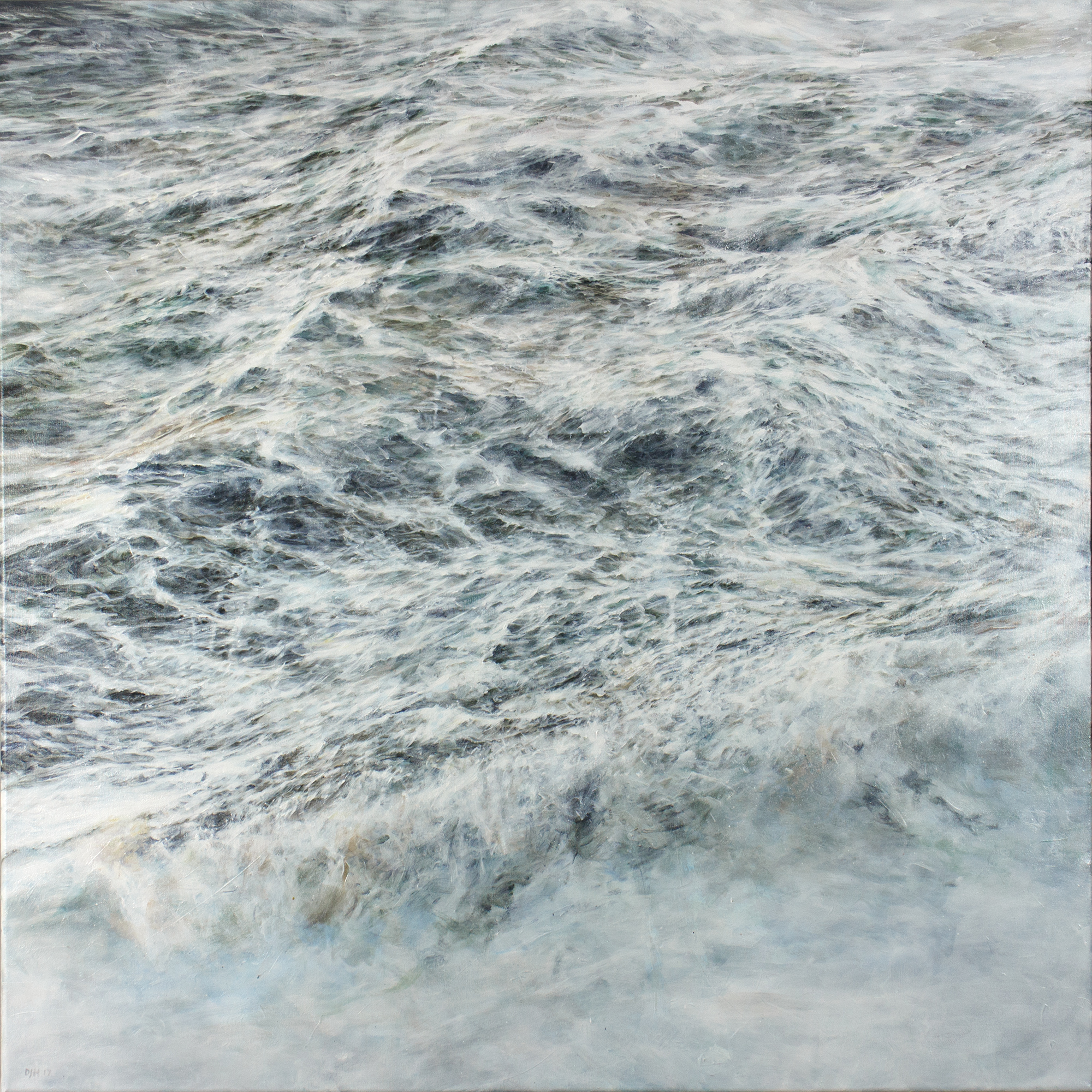 Duncan Hopkins, THE UNFINISHING, Acrylic on canvas, 100 x 100 x 2 cm,  http://www.duncanhopkins.net