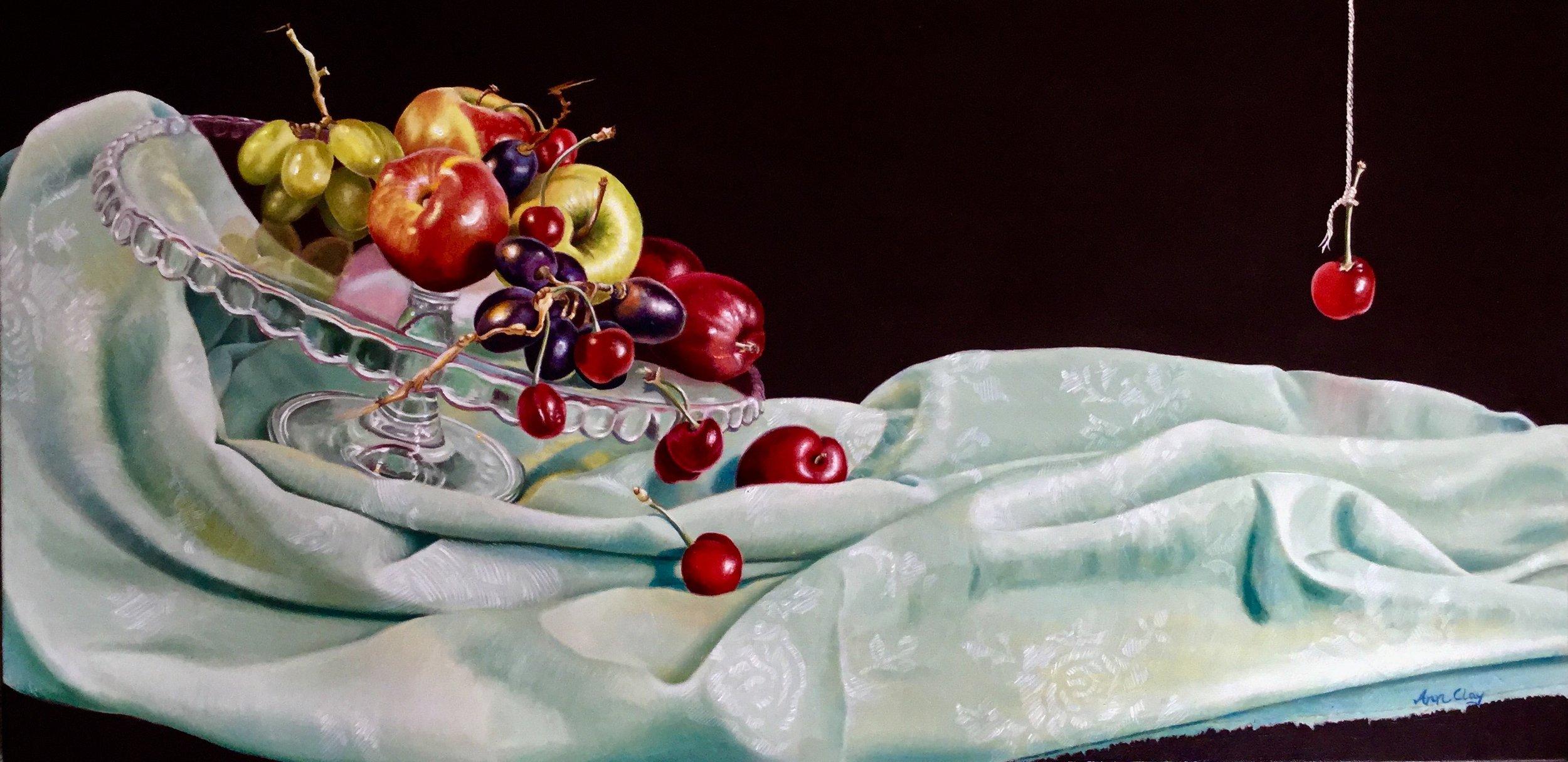 Ann Clay, Ann Clay, Slide, Oil paint on canvas, 40cm x 80cm x 1.5cm,  http://www.annclayart.weebly.com