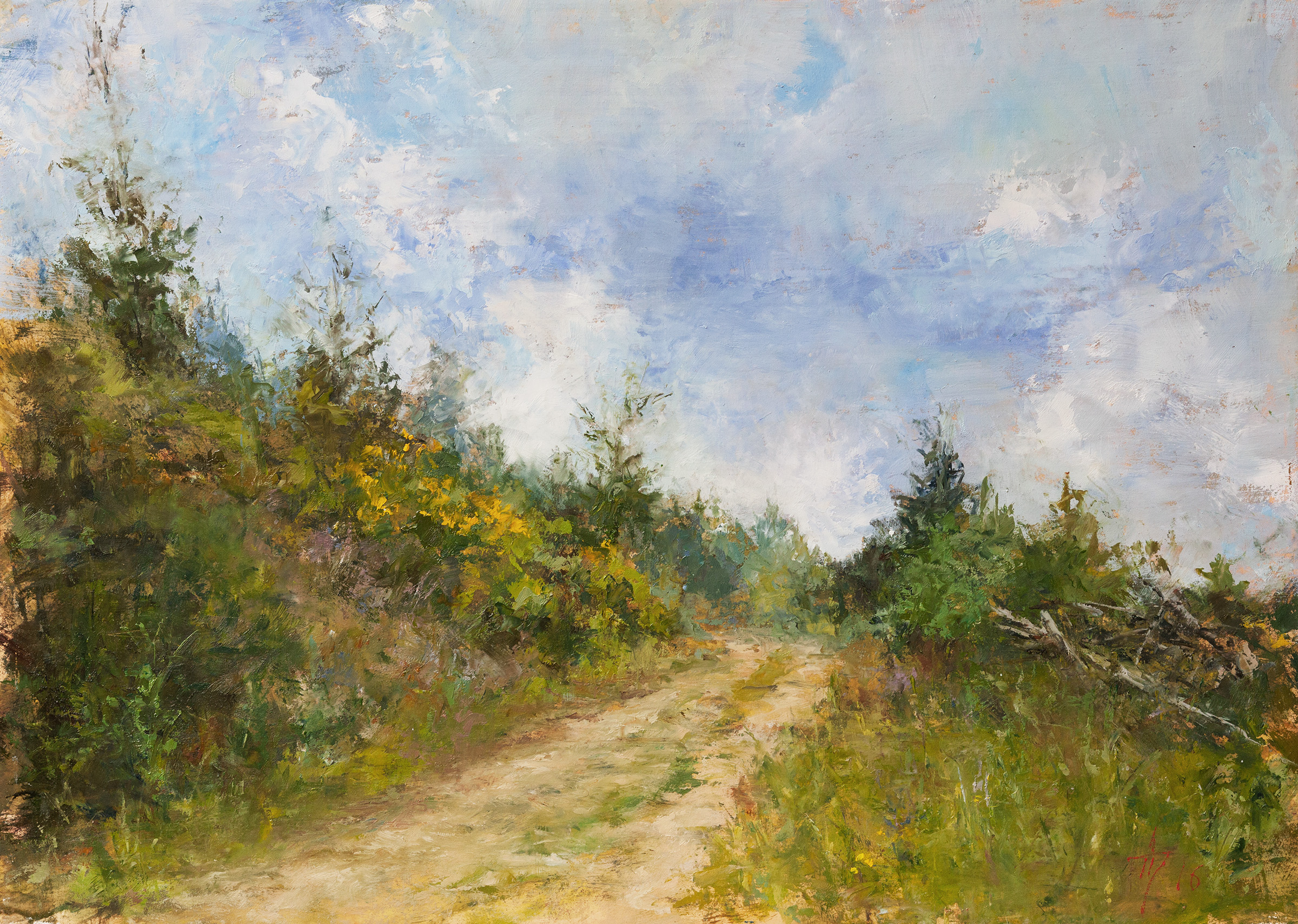 Andrei Tchernoukha, Above Martinsthal, Oil on wood panel, 25 x 35 x 0.6,  http://atchern.com