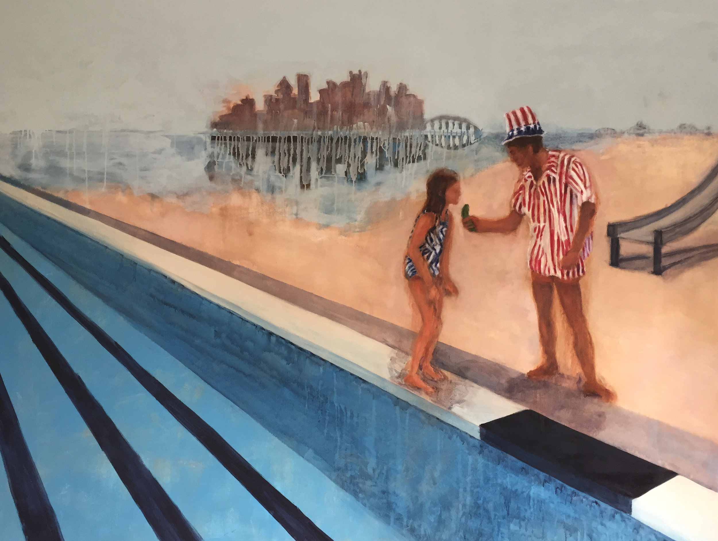 Amy Robson, P Town, Acrylic and oil on canvas, 148 cm x 210 cm x 4 cm, http://amyrobson.co.uk/portfolio_tag/home/