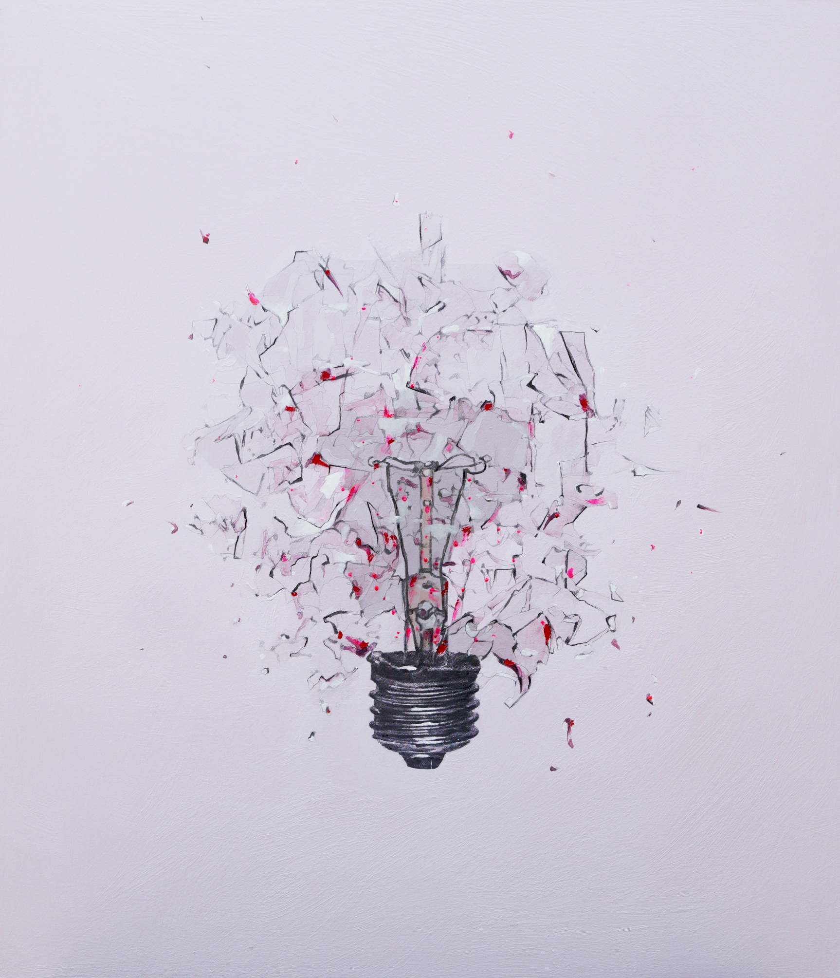 Ronan Walsh, Atomic, Acrylic & Pencil on Board, 81cm x 70cm x 2cm, http://www.ronanwalsh.co.uk