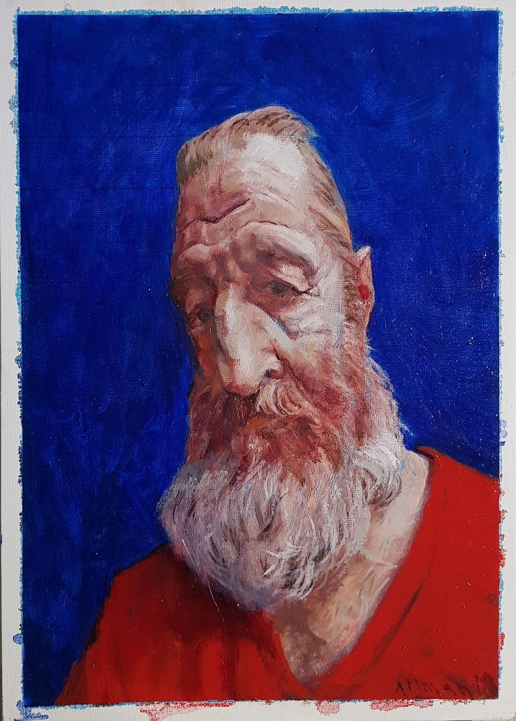 John Alman, Old Jew, Oil on canvas., Height 60cm x Width 55cm,  http://allmad-art.com