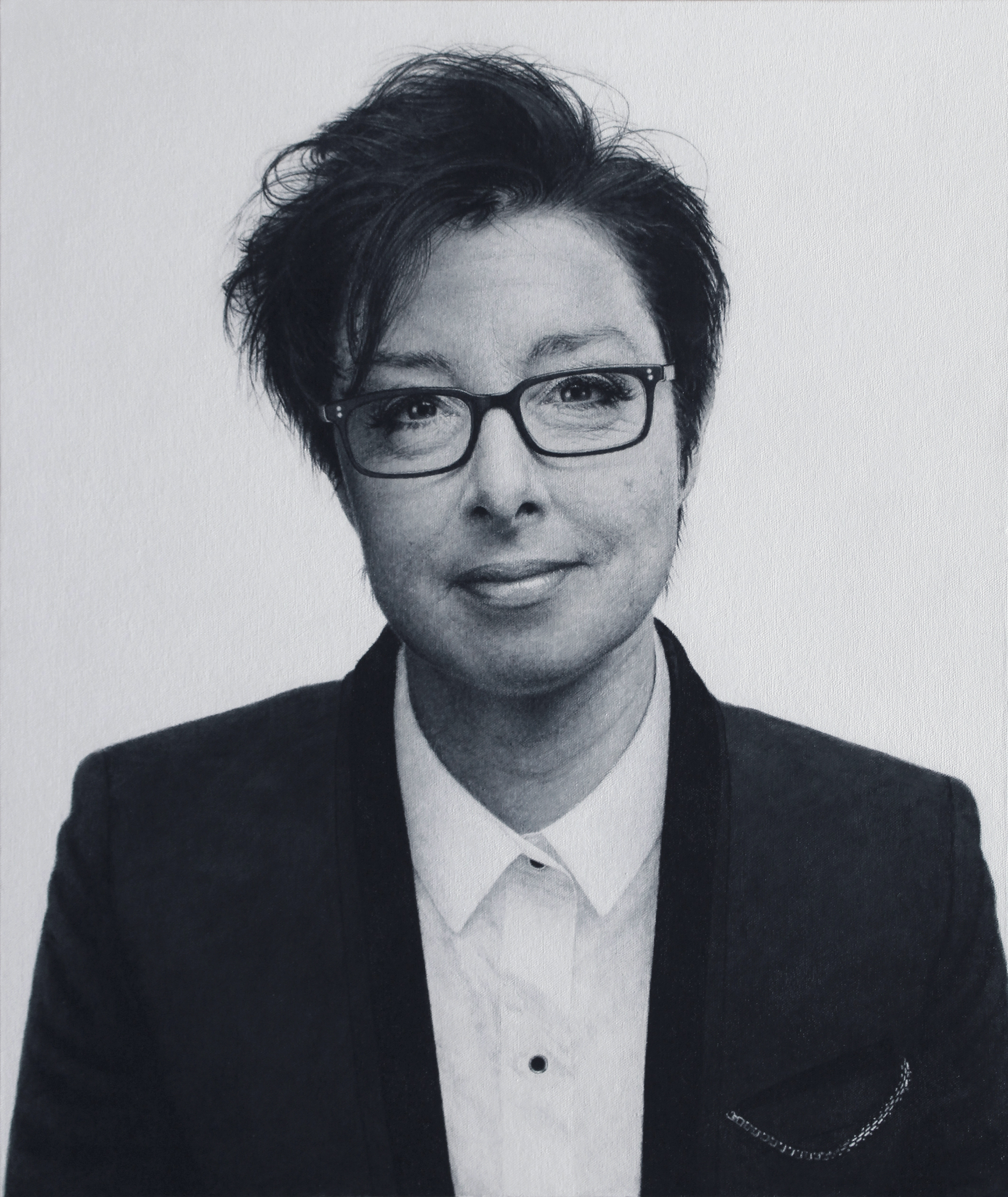 Martyn Burdon, Sue Perkins, Acrylic on Canvas, 63cm x 53cm x 3cm,  http://www.martynburdon.com