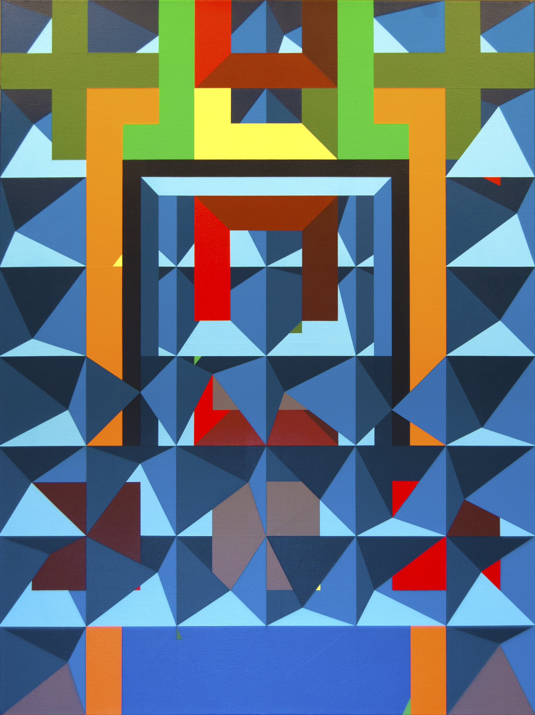 Graham King, Into, Out too, Acrylic on canvas, 101.6cm x 76.2 cm x 3cm