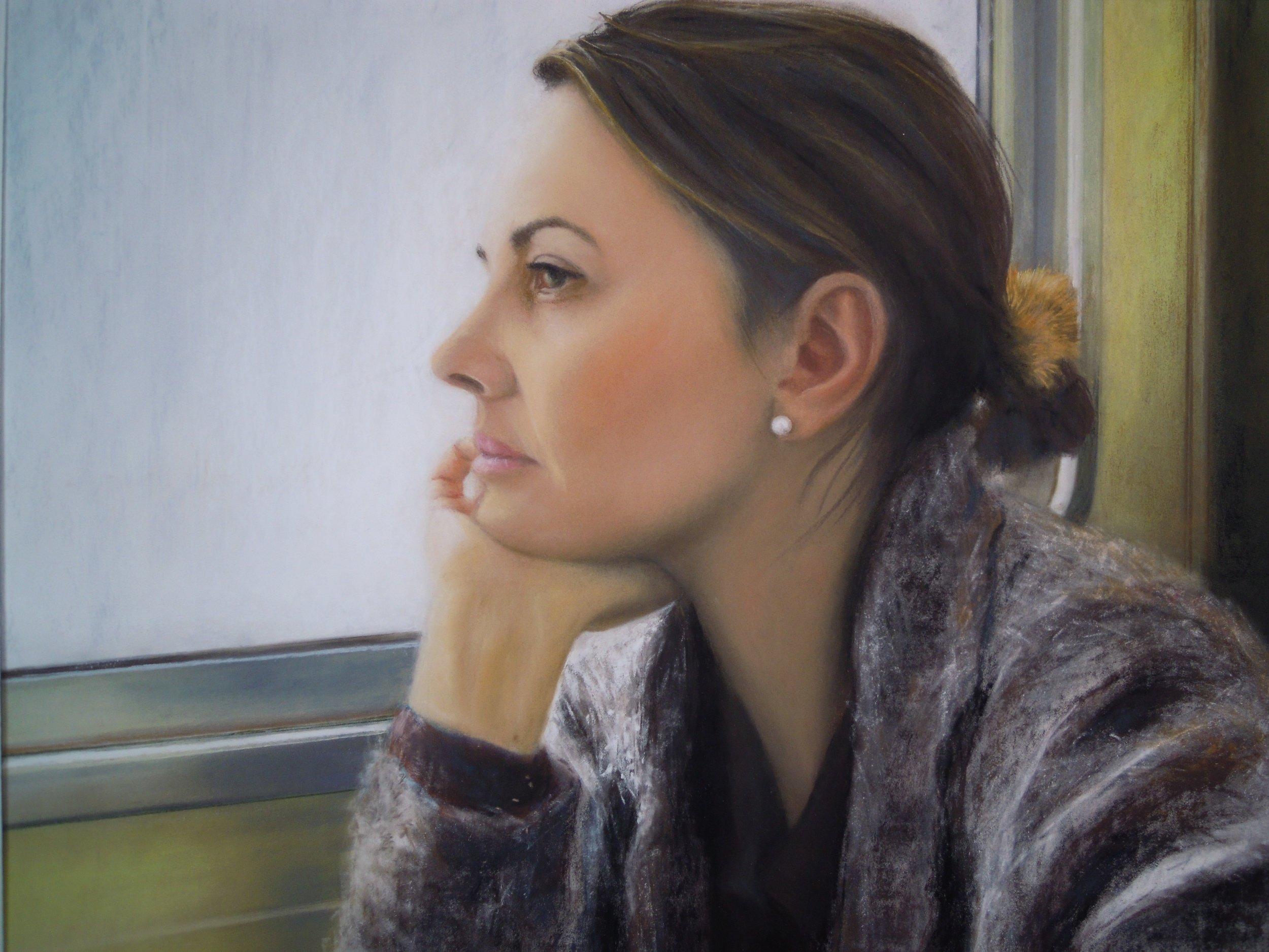 Cristina Piantoni, The extended present., Pastel on paper., 40 cm x 50 cm