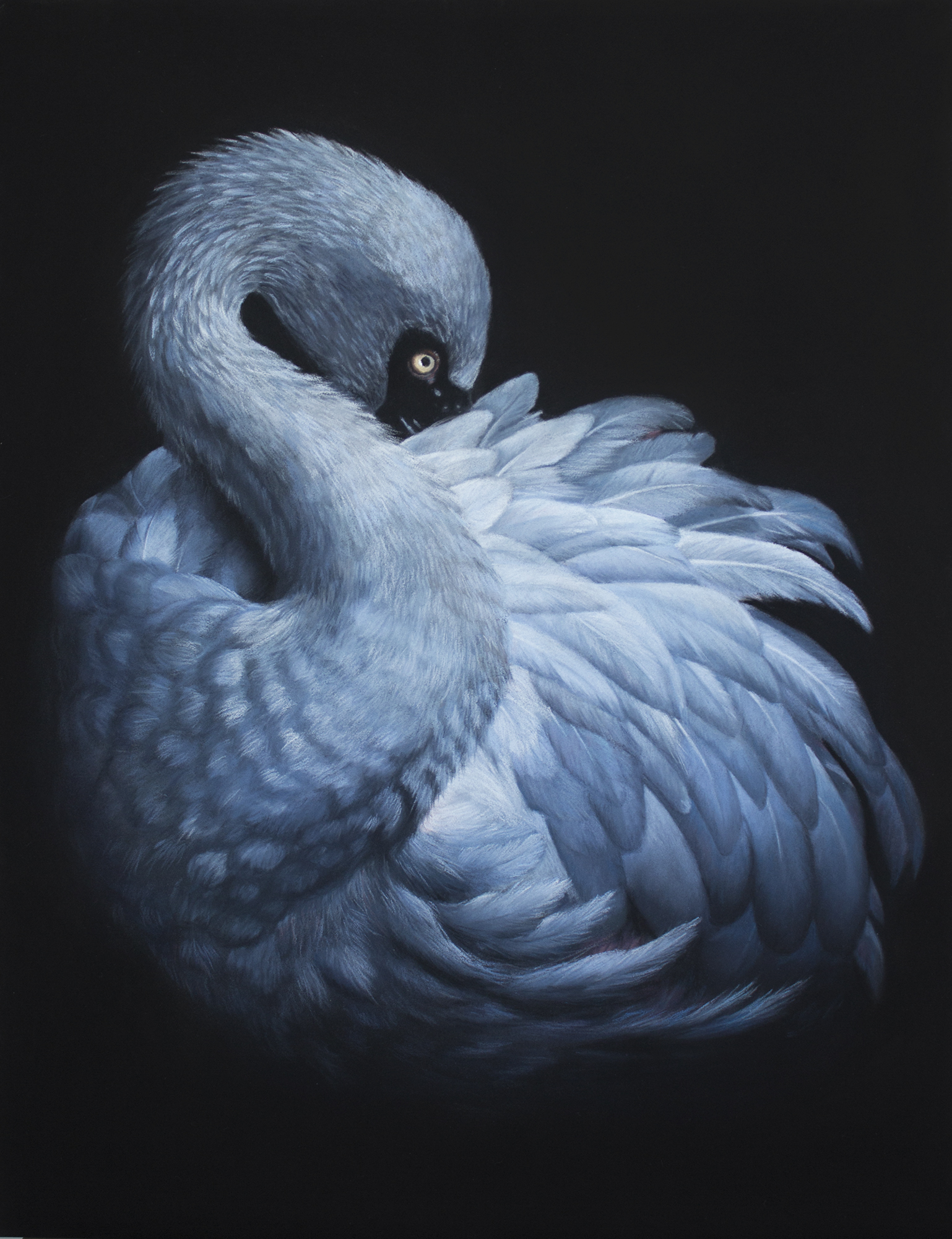 Vera Evseeva, In the dark, Pastel, pastel pencils on paper, 30 cm x 40 cm,  http://evseeva-art.ru/