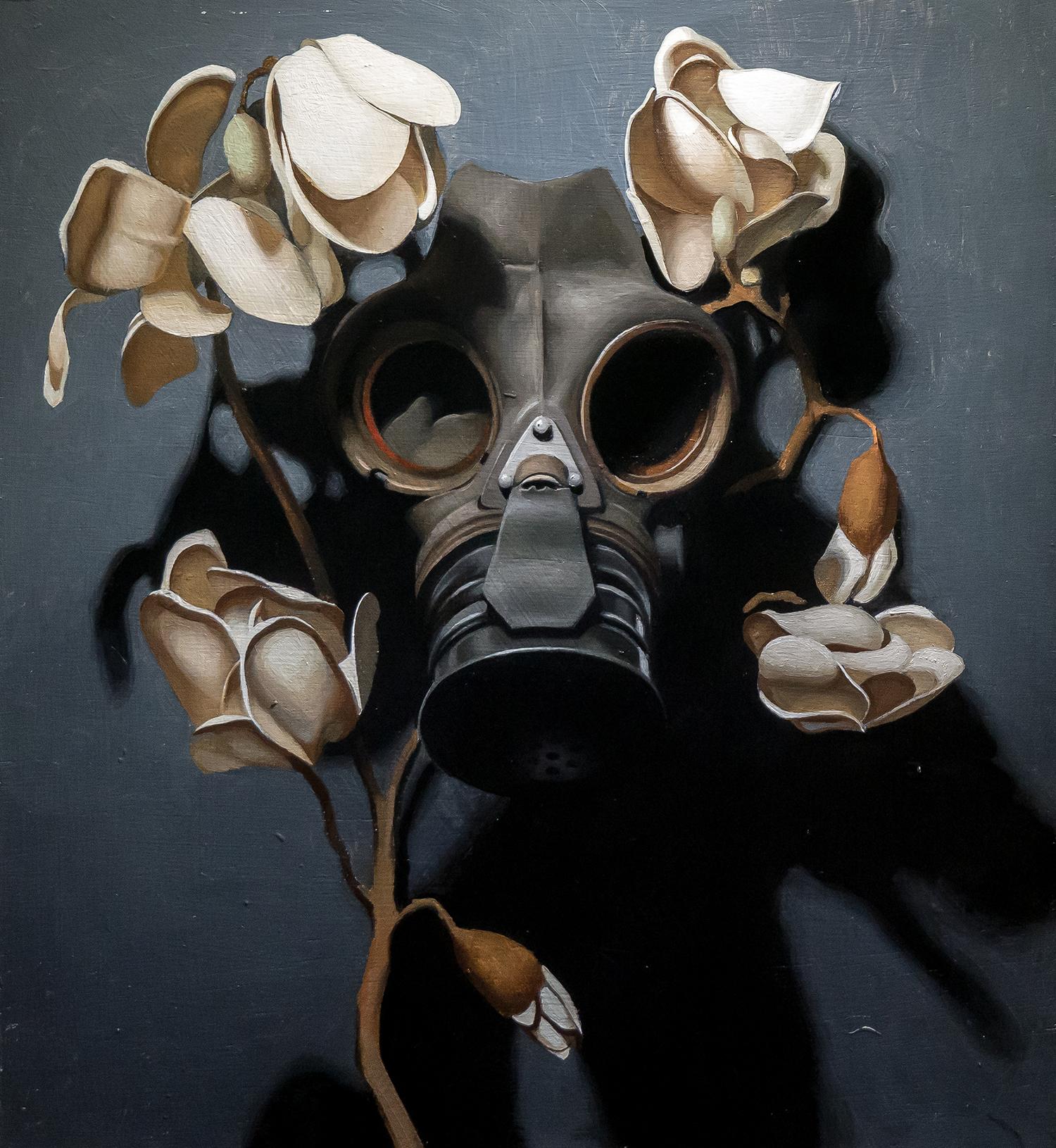 Kieran Ingram, Pale Carnage, Oil on Panel, 36cm x 40cm x 3cm,  http://www.kieraningram.com