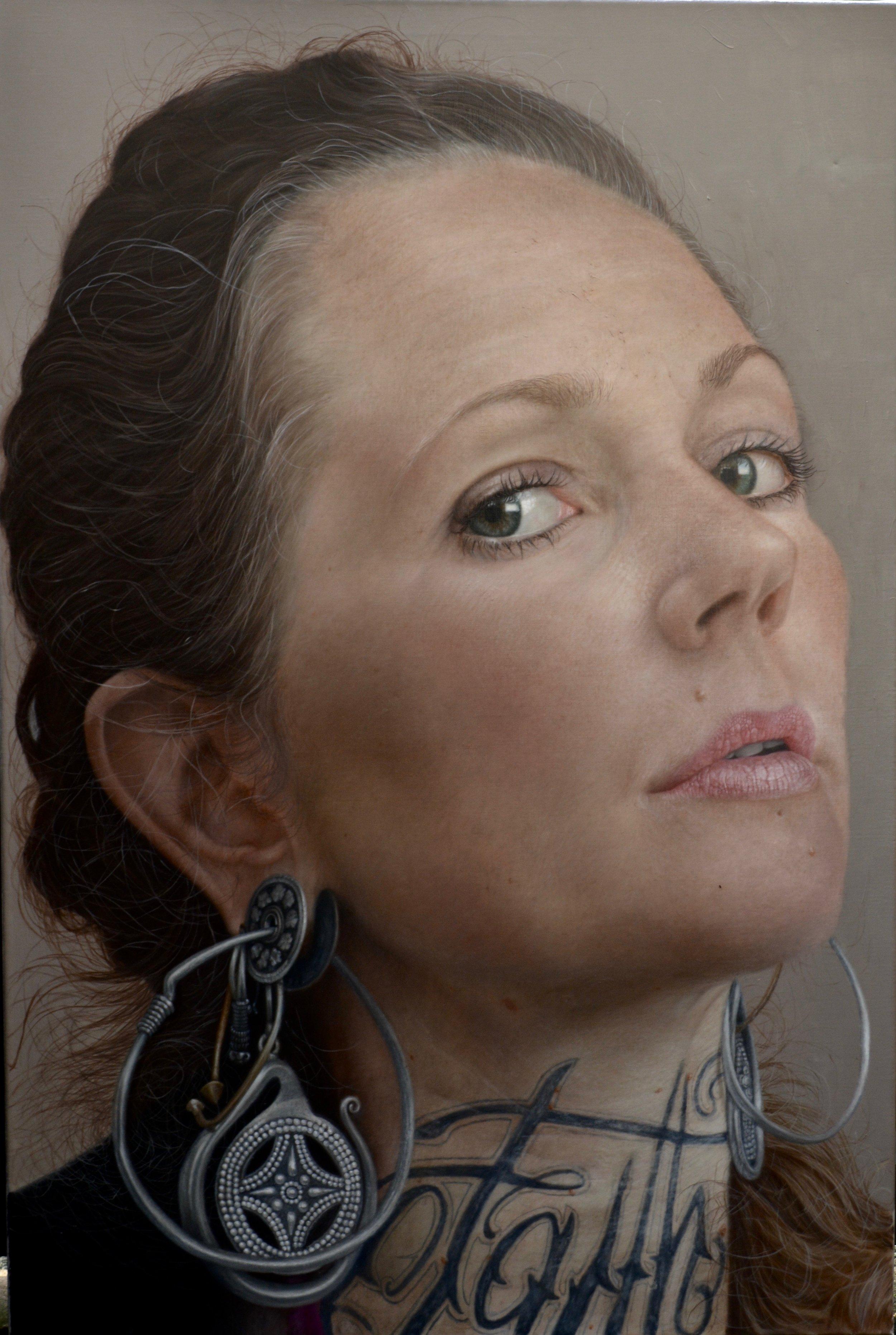 Justin Russell, Minka, Oil on Linen, 80cm wide 120cm long,  http://justinrussellartist.com