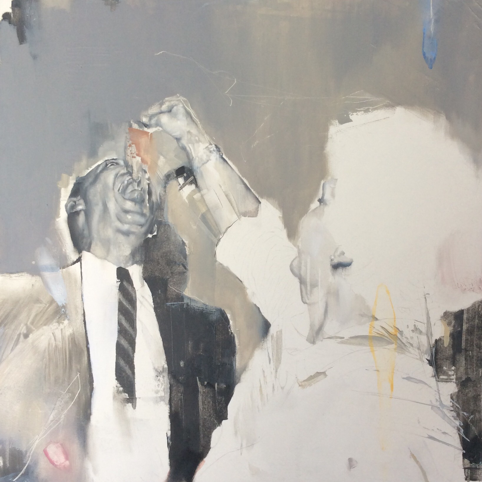 Angela Bell, Gulp, Oil on gesso panel, 25x25x1,  http://www.angebellart.com