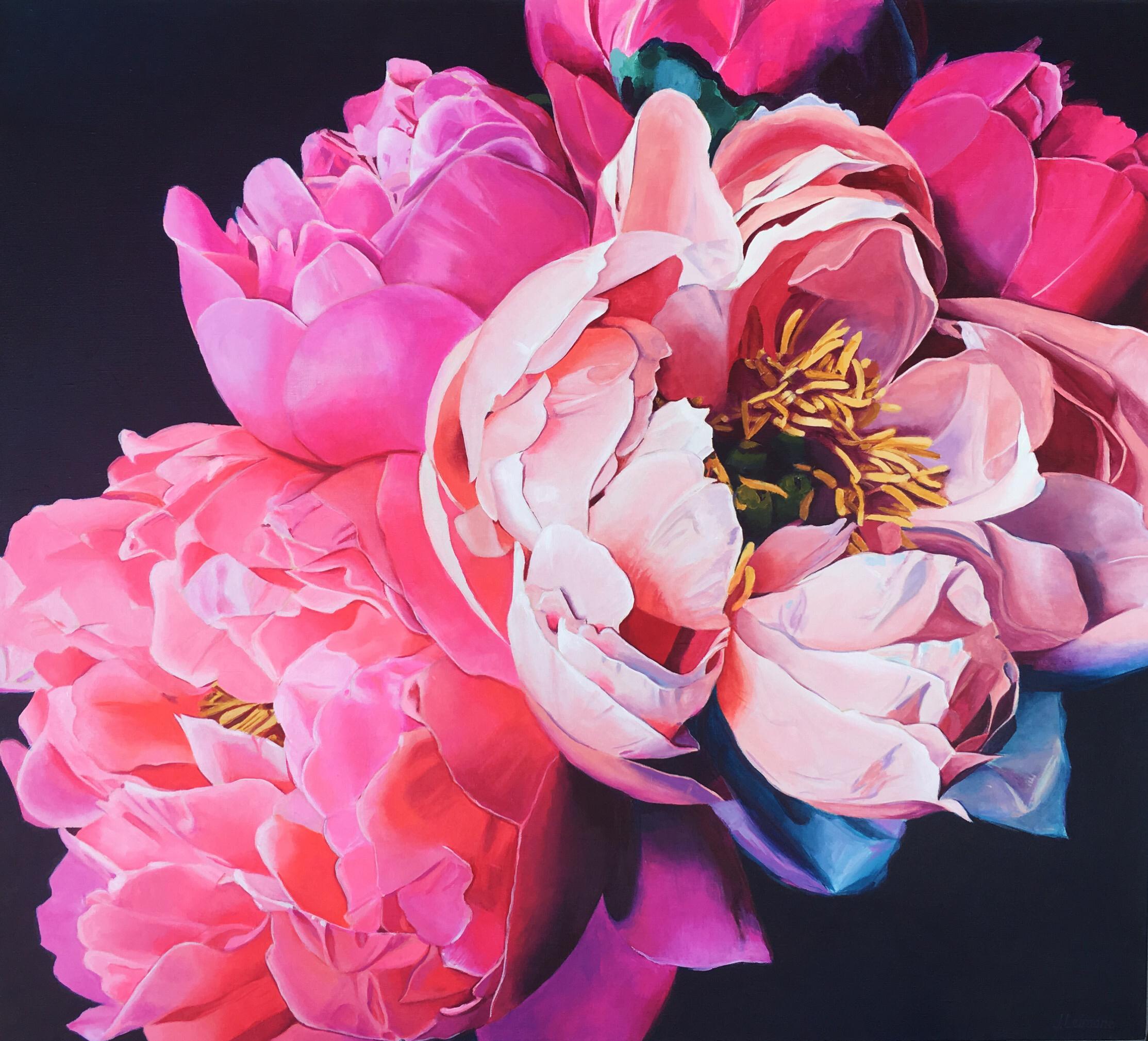 Jana Leimane, Think Pink, Acrylic on canvas, 90 x 100 x 3cm,  https://www.instagram.com/jleimane