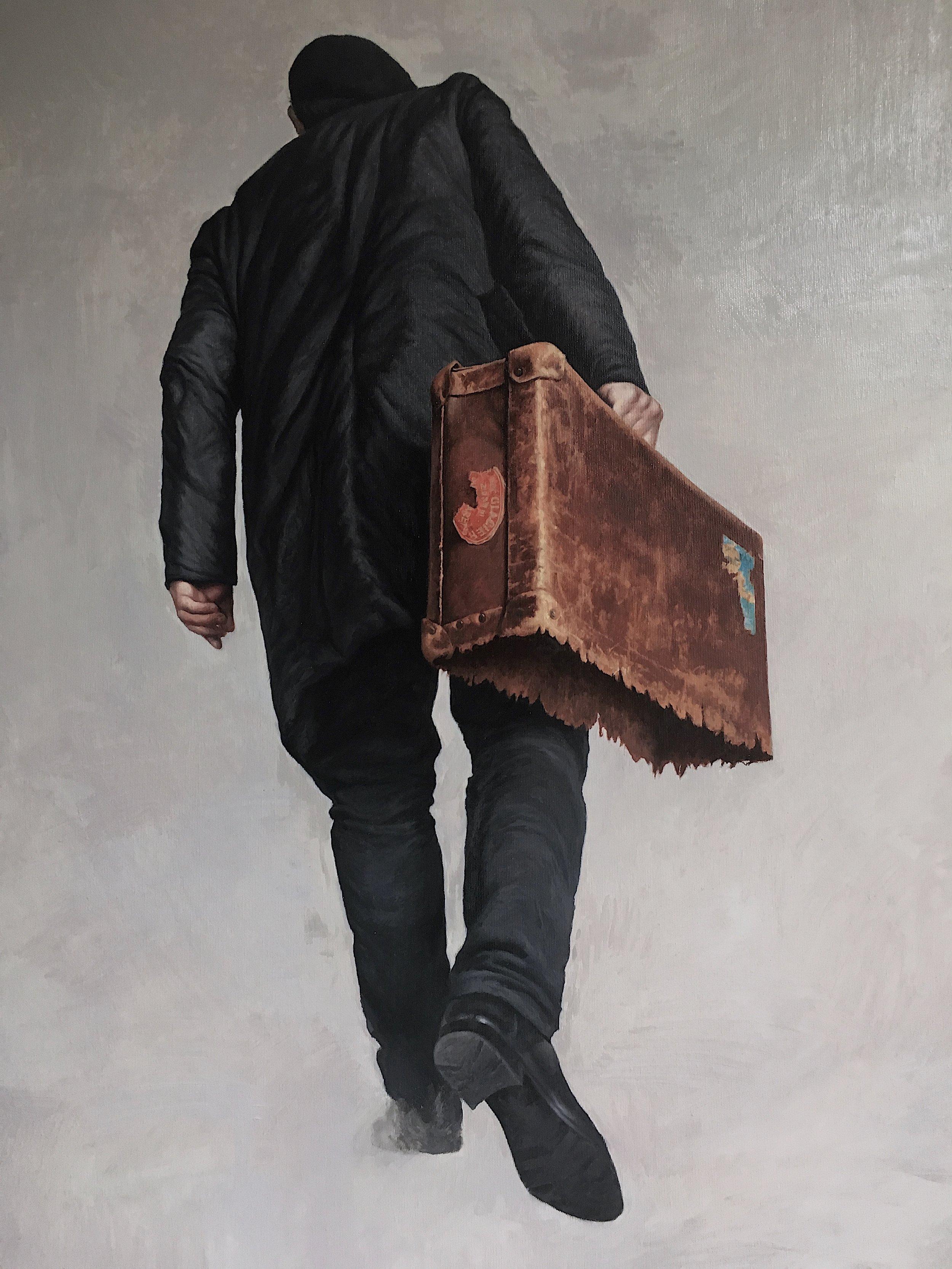 Agim Sulaj, Emigrant, Oil on Canvas, 120x80 cm,  http://www.agimsulaj.com
