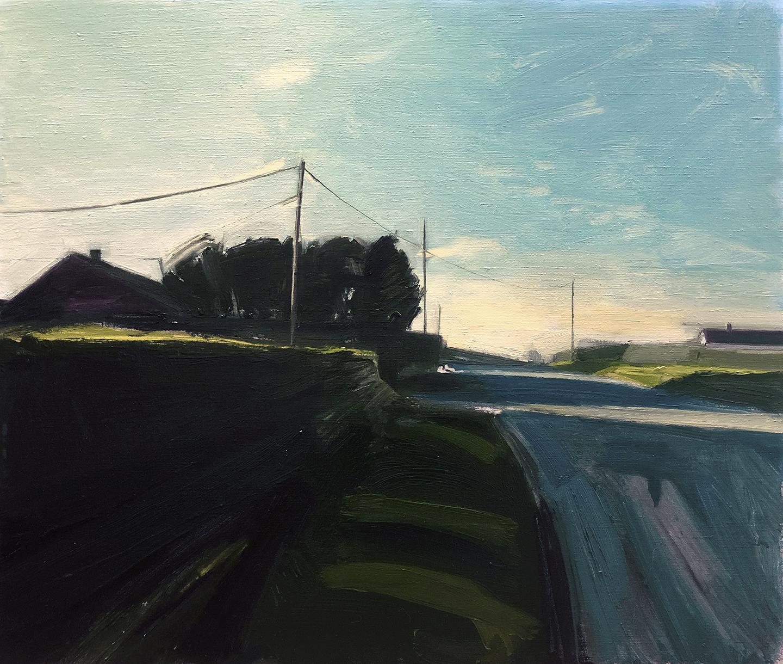 TB Ward, Cantlop Road, Oil on linen, 68 x 80 x 4,  http://www.tbward.com