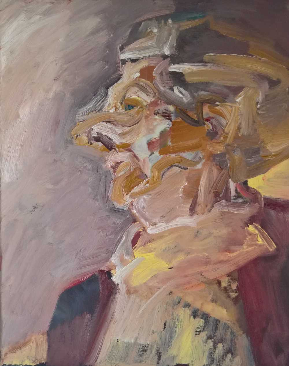 Regina Schween, Wilma, Oil on Canvas, 50cm x 40cm x 1.8cm
