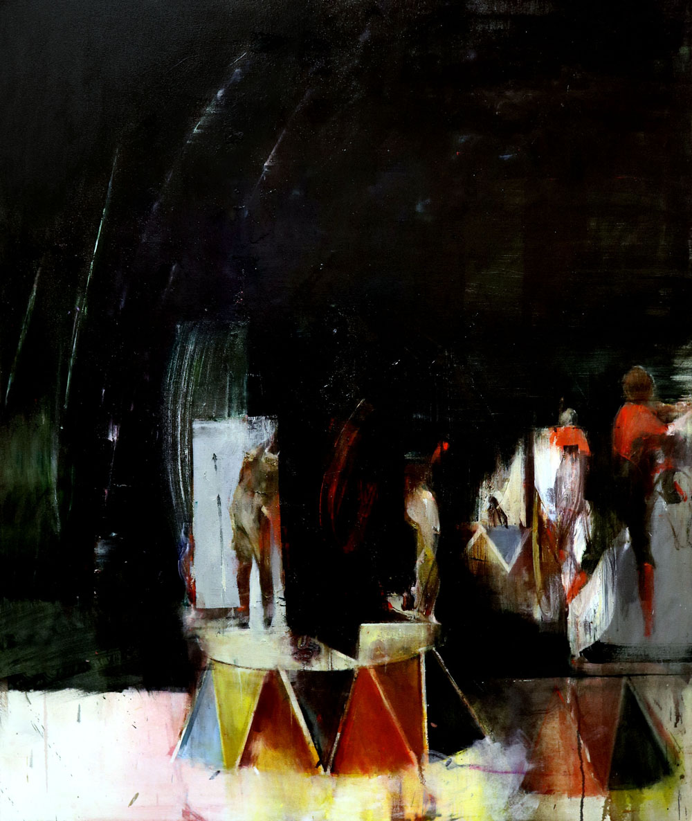 Sarah Shaw, Of Gods and Monsters, Oil on canvas, 100 x 80 x 2 cm,  http://www.sarahshaw.co.uk