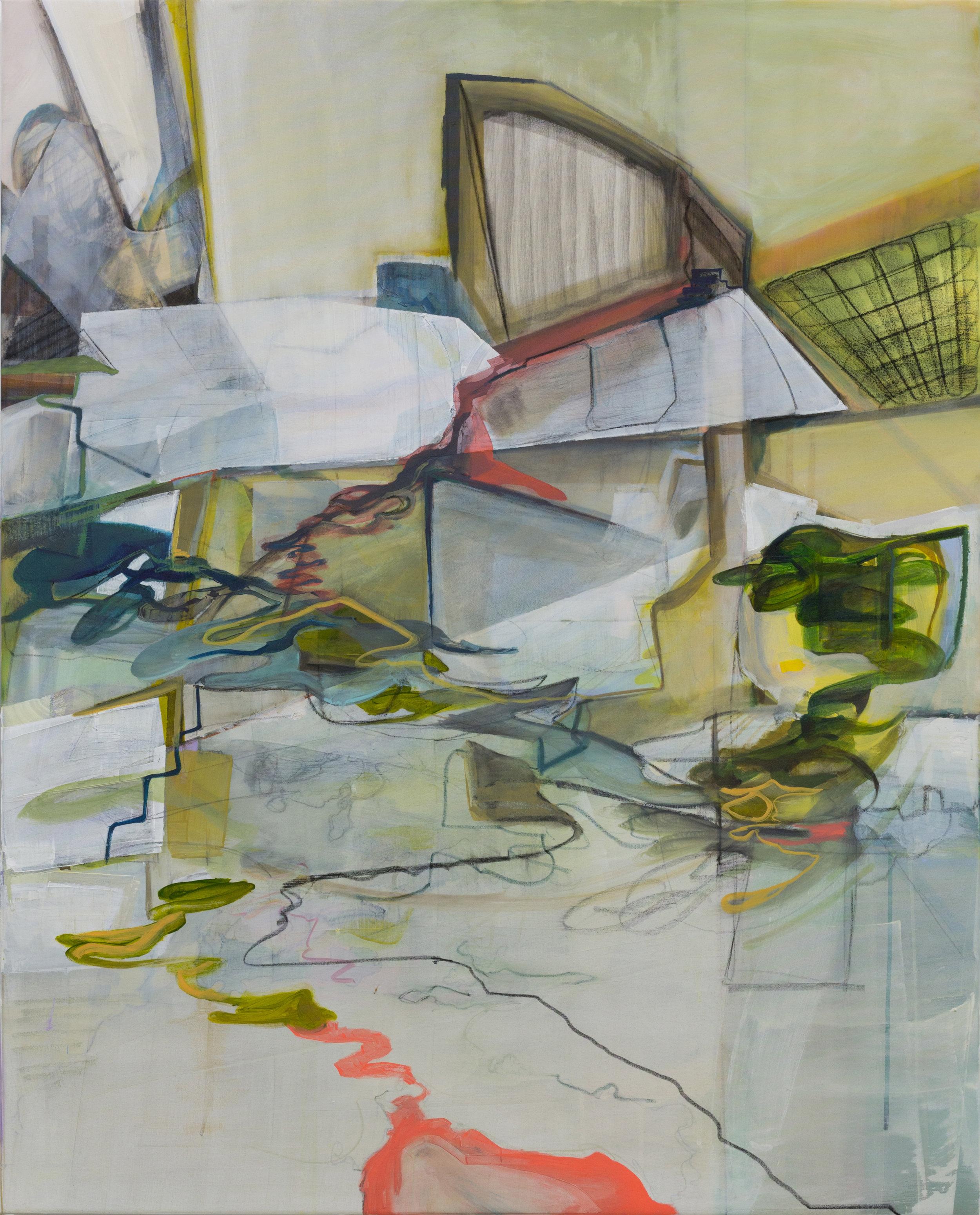 Anna Lytridou, Untitled, Oil on Polyester, 130 x 120 cm,  http://www.annalytridou.com