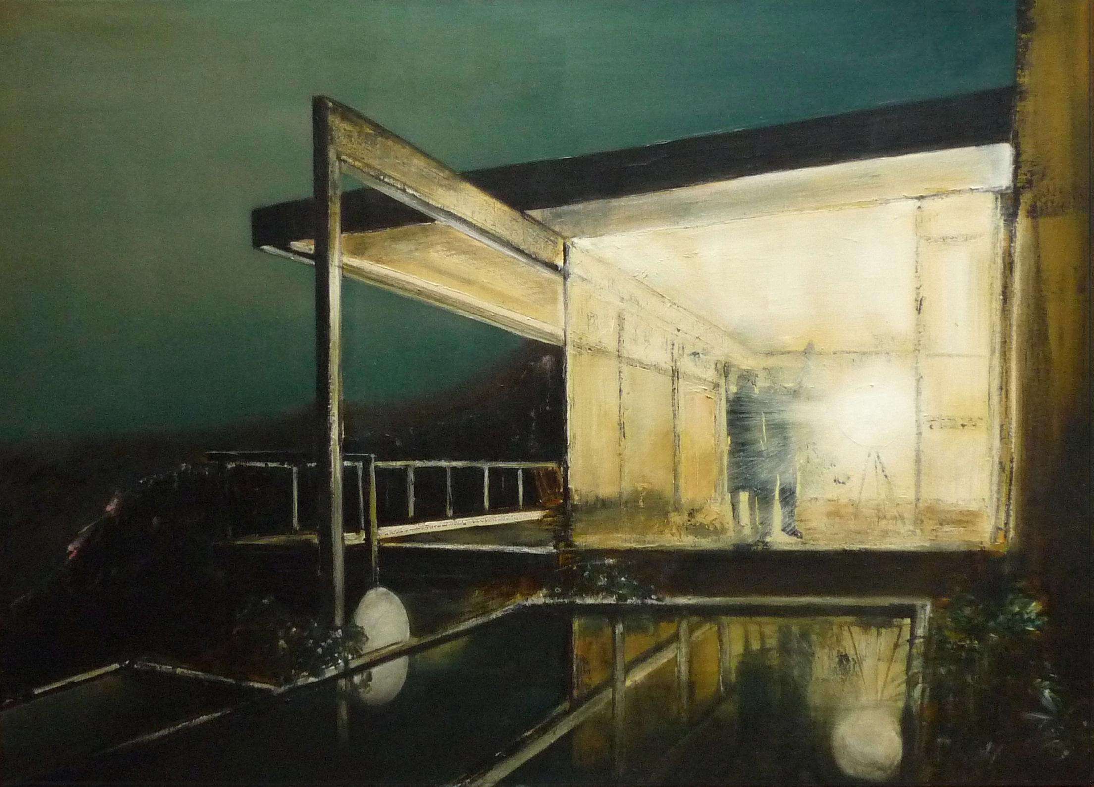 Jarik Jongman, Hello Goodbye (8), Oil on canvas, 100 x 140 x 5 cm.,  http://www.jarikjongman.nl