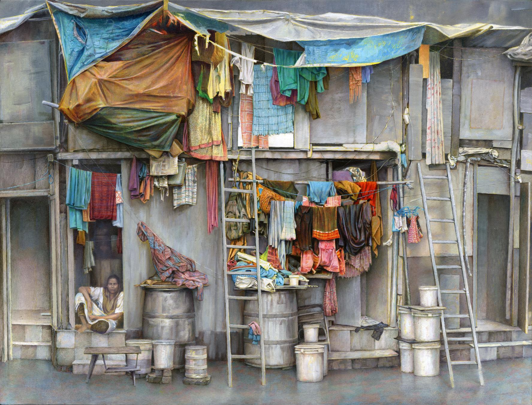 David Agenjo, Wadibunder Road, Oil on canvas, 90 x 120 x 3 cm,  https://davidagenjo.com