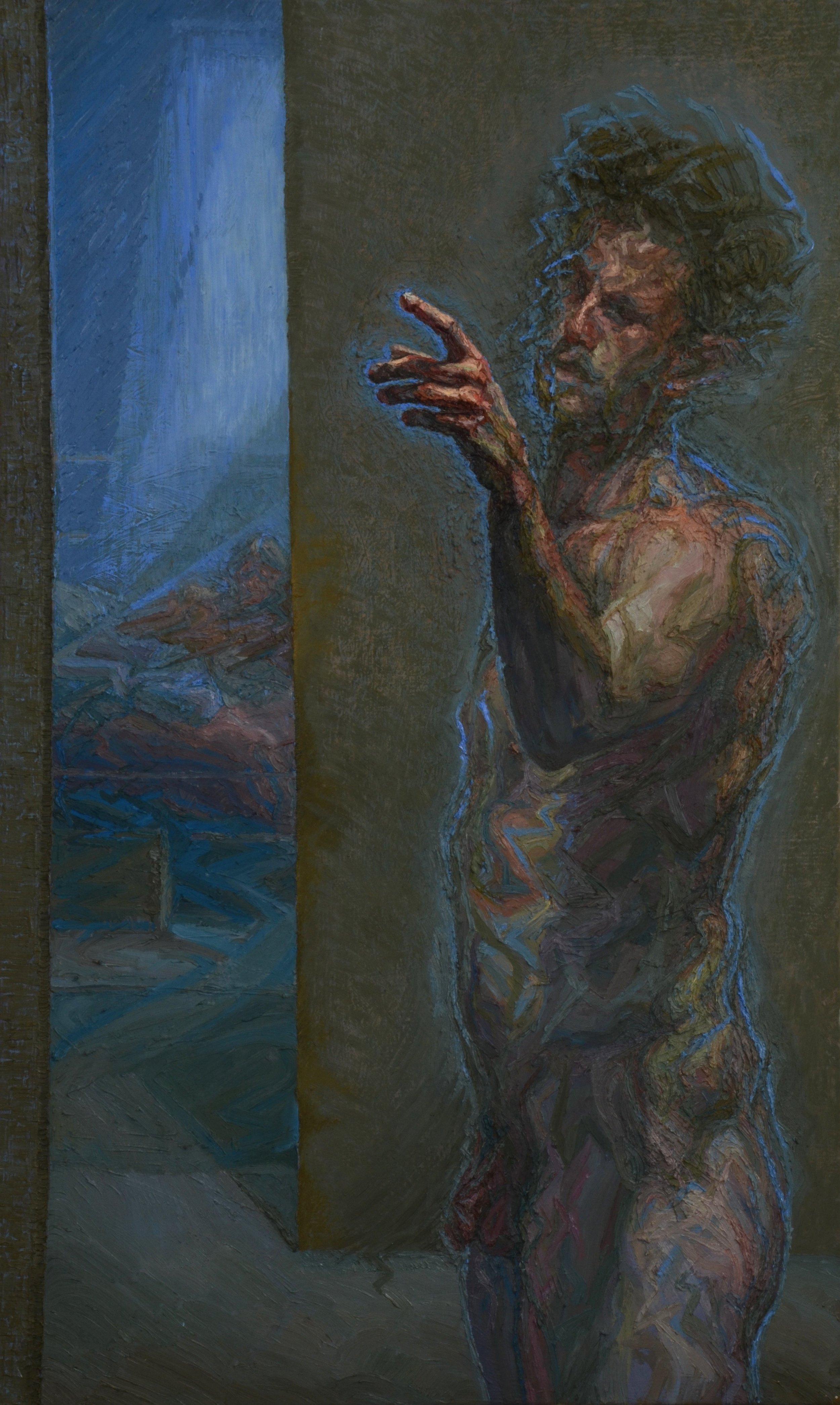 Charlie Schaffer, Self-Portrait in Margate, oil on canvas, 115 x 70 cm,  http://www.charlieschaffer.com