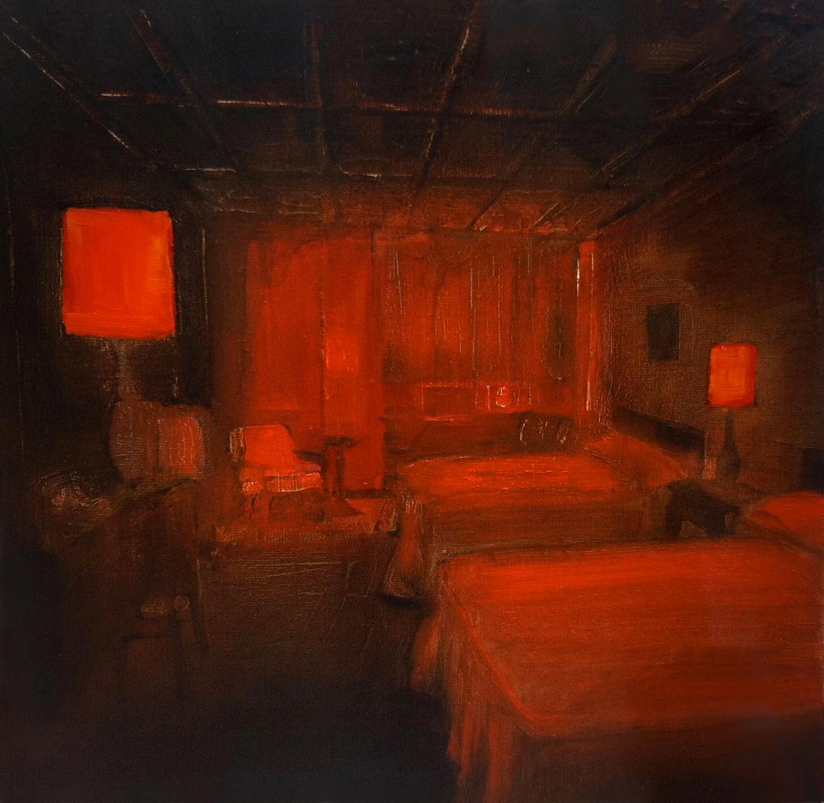 Jarik Jongman, Phenomena (23), Oil on canvas, 50 x 50 x 5,  http://www.jarikjongman.nl